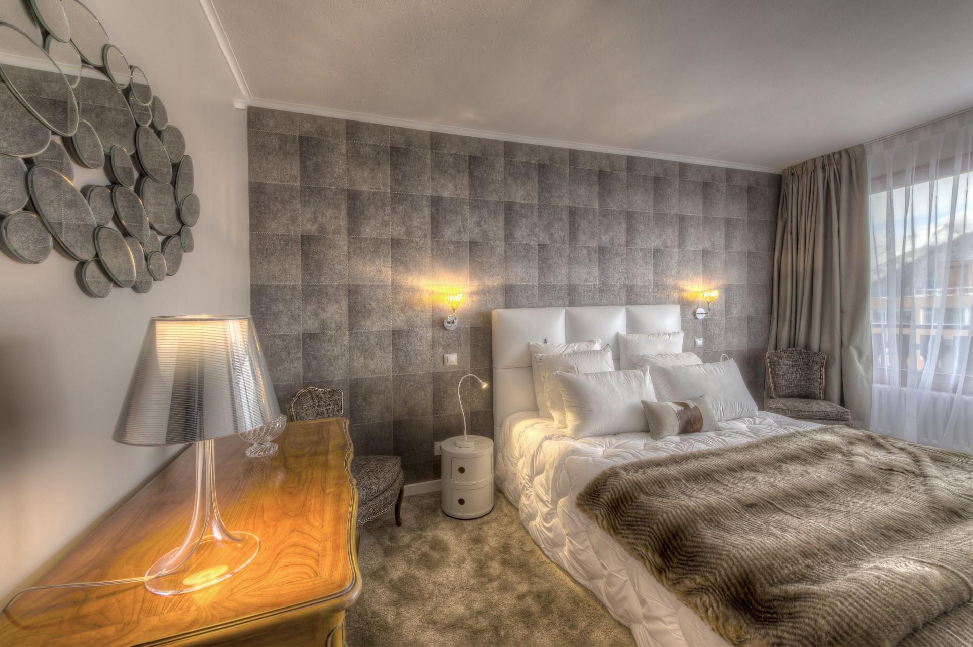 Courchevel 1850 Luxury Rental Appartment Taramite Bedroom