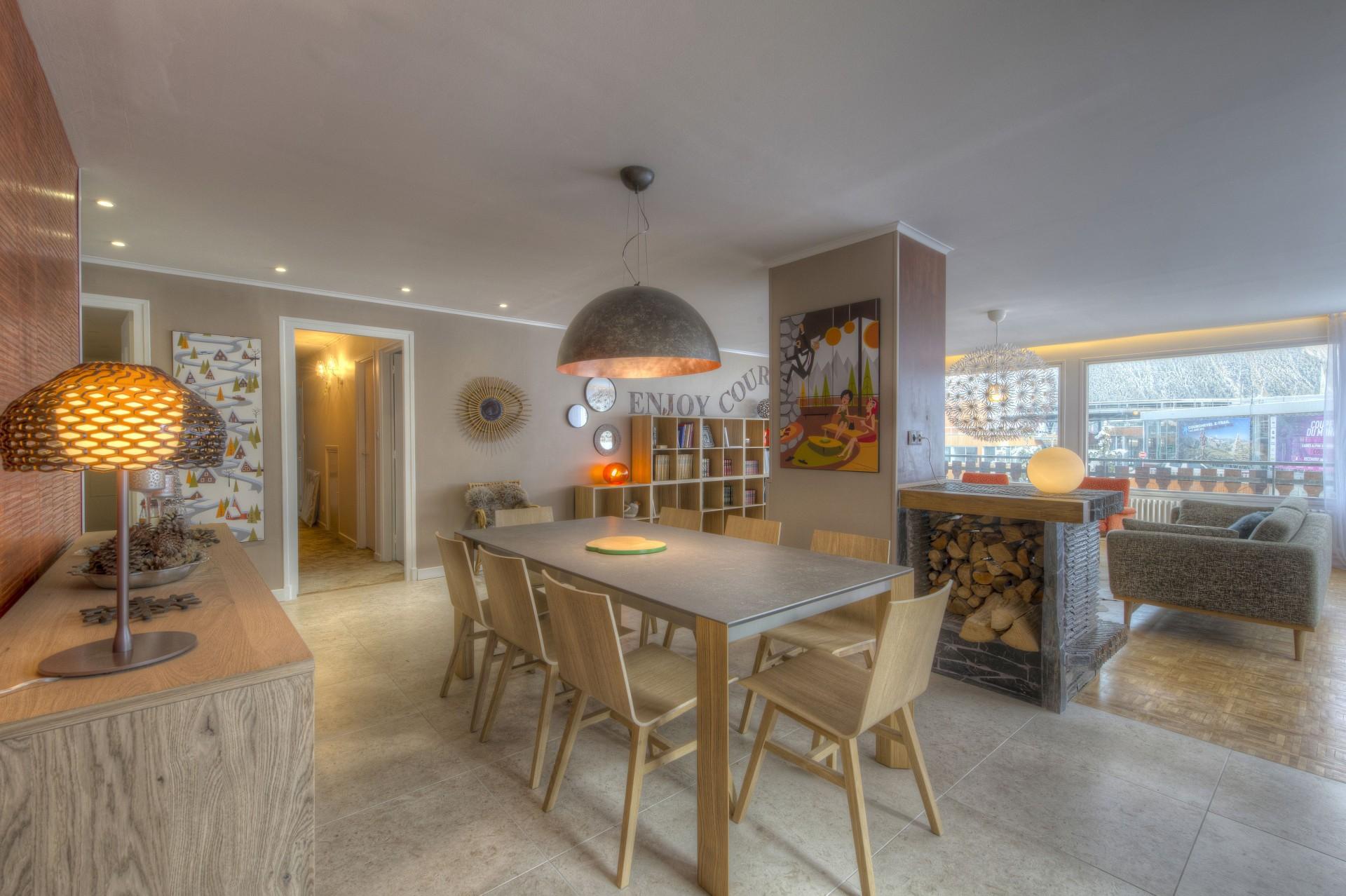 Courchevel 1850 Luxury Rental Appartment Taramite Dining Room