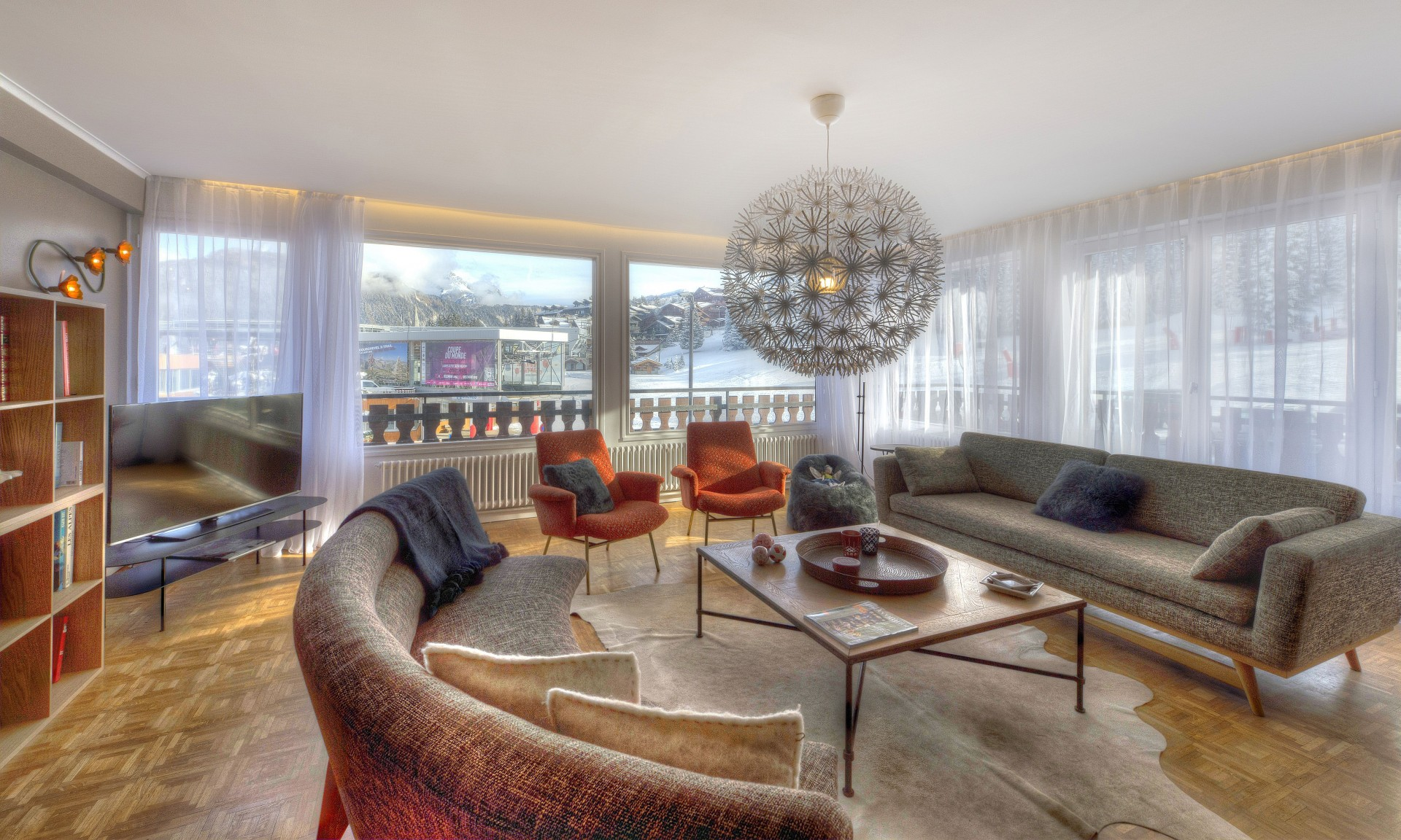 Courchevel 1850 Luxury Rental Appartment Taramite Living Room