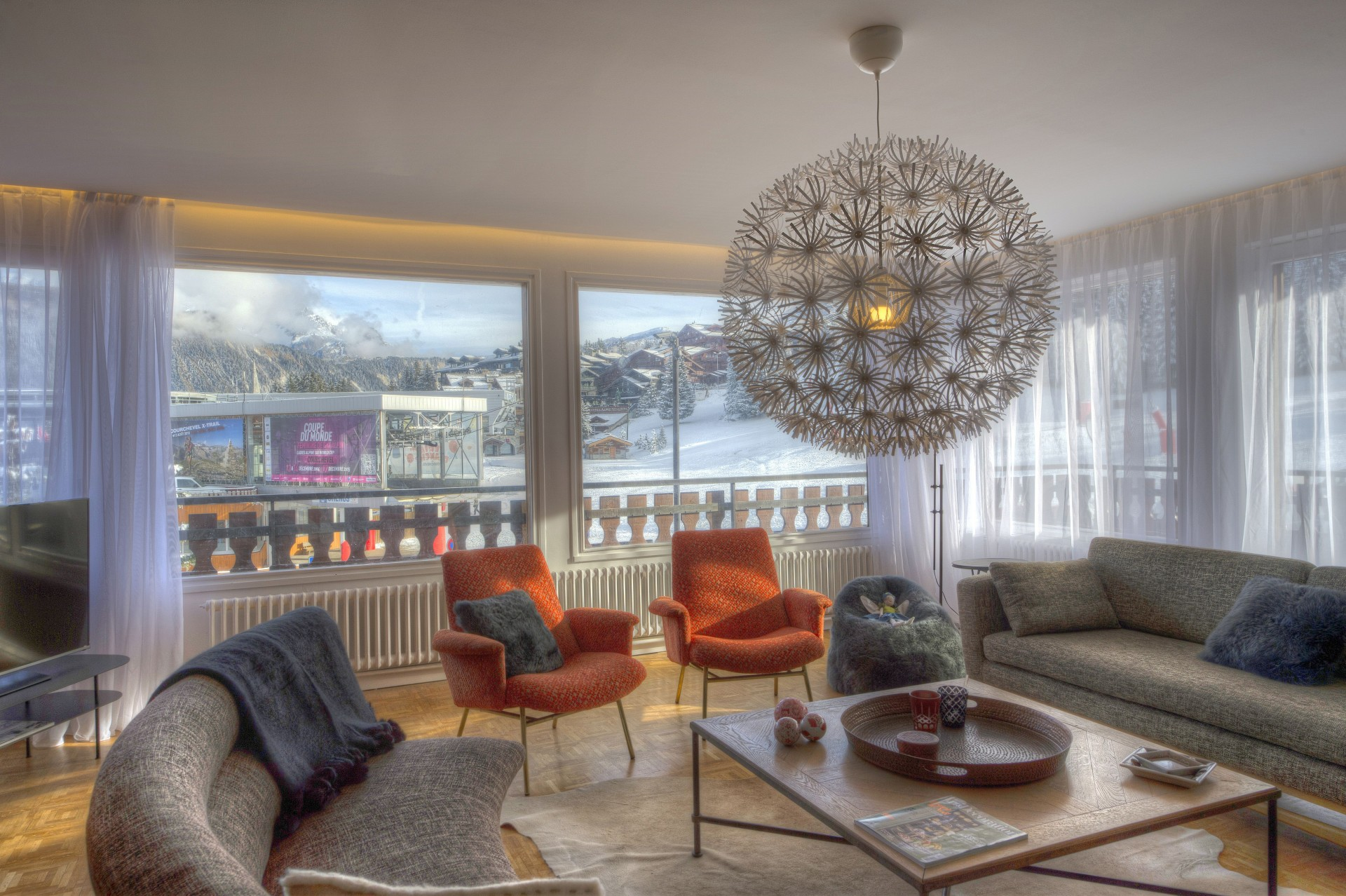 Courchevel 1850 Luxury Rental Appartment Taramite Living Room 4
