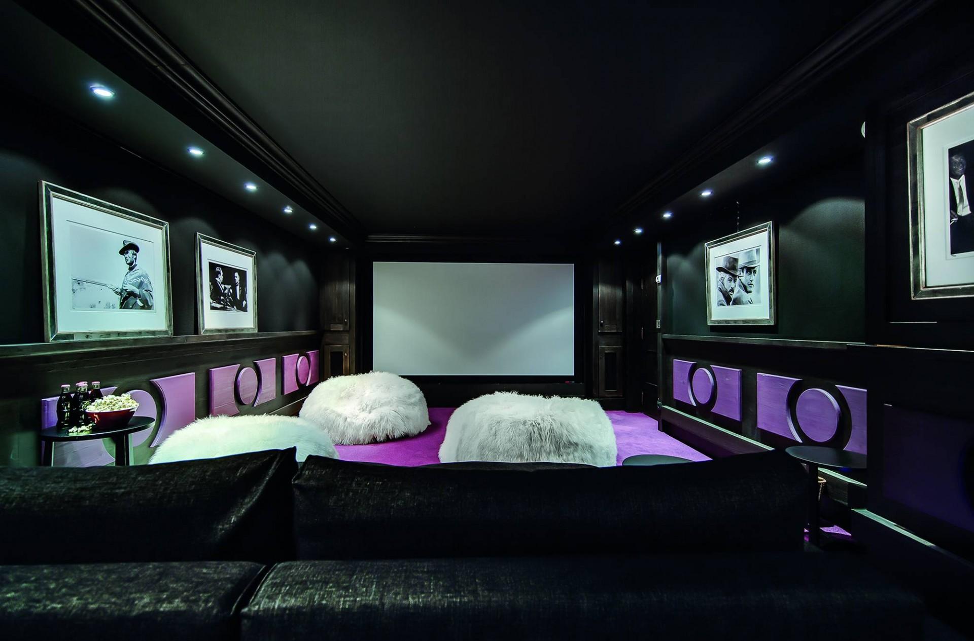 Courchevel 1850 Luxury Rental Chalet Bepalite Cinema Room