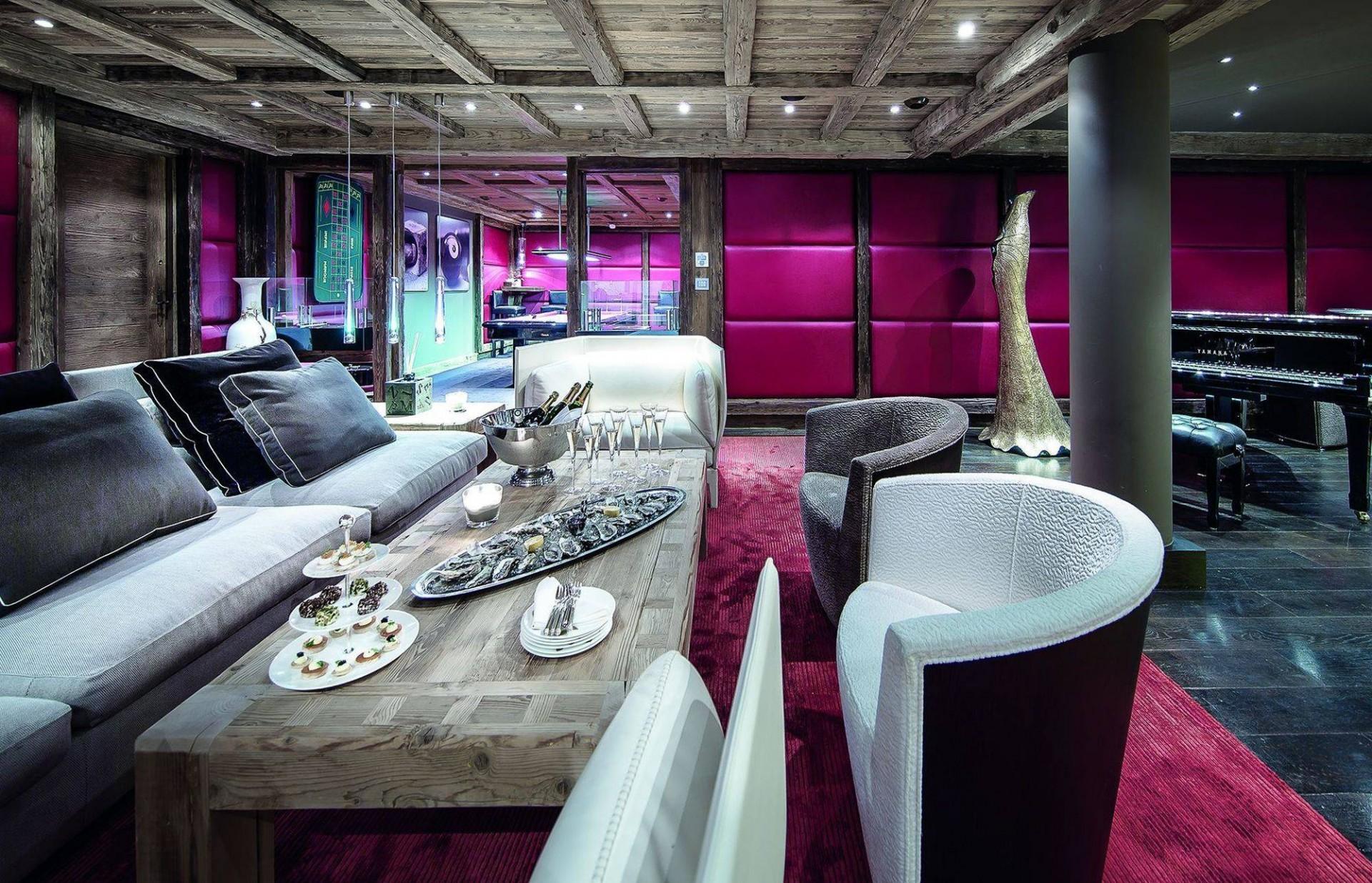 Courchevel 1850 Luxury Rental Chalet Bepalite Living Room 3