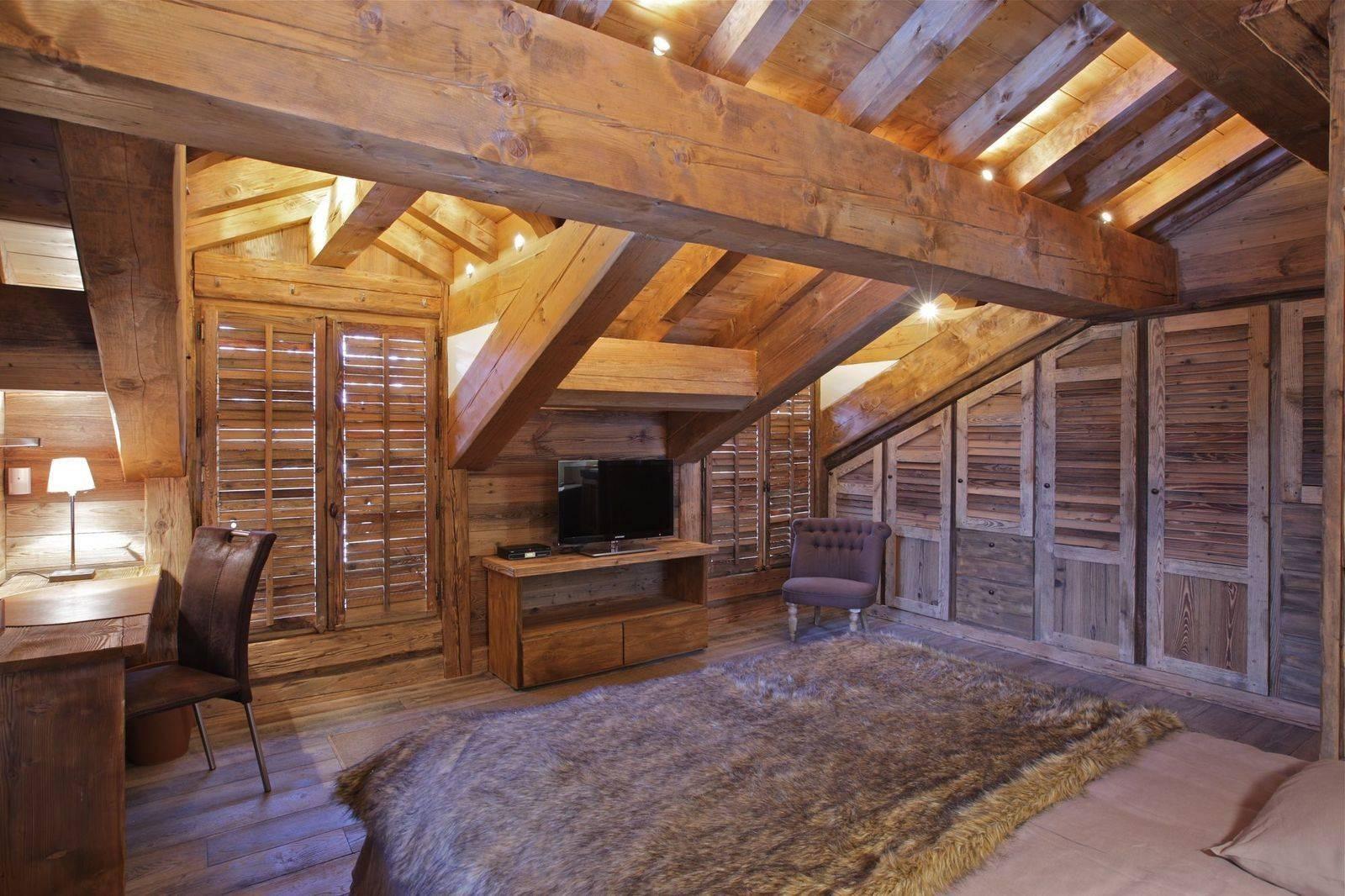 Courchevel 1850 Location Chalet Luxe Cesarolite Chambre