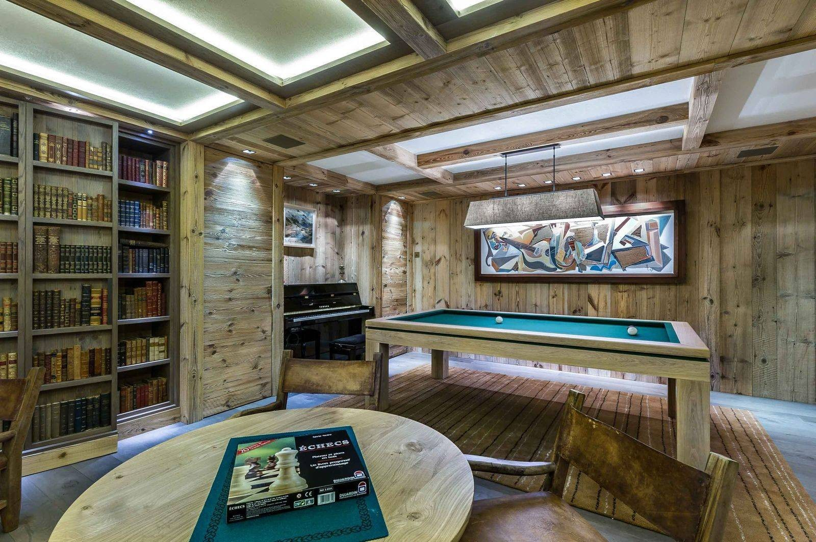 Courchevel 1850 Luxury Rental Chalet Chursinite Games Room