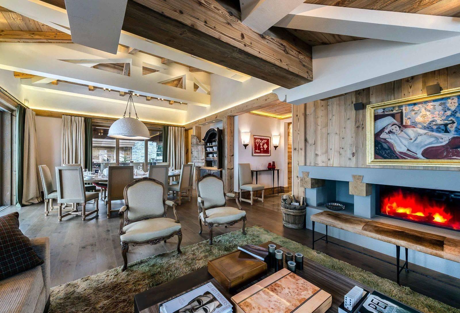 Courchevel 1850 Luxury Rental Chalet Chursinite Living Room 3