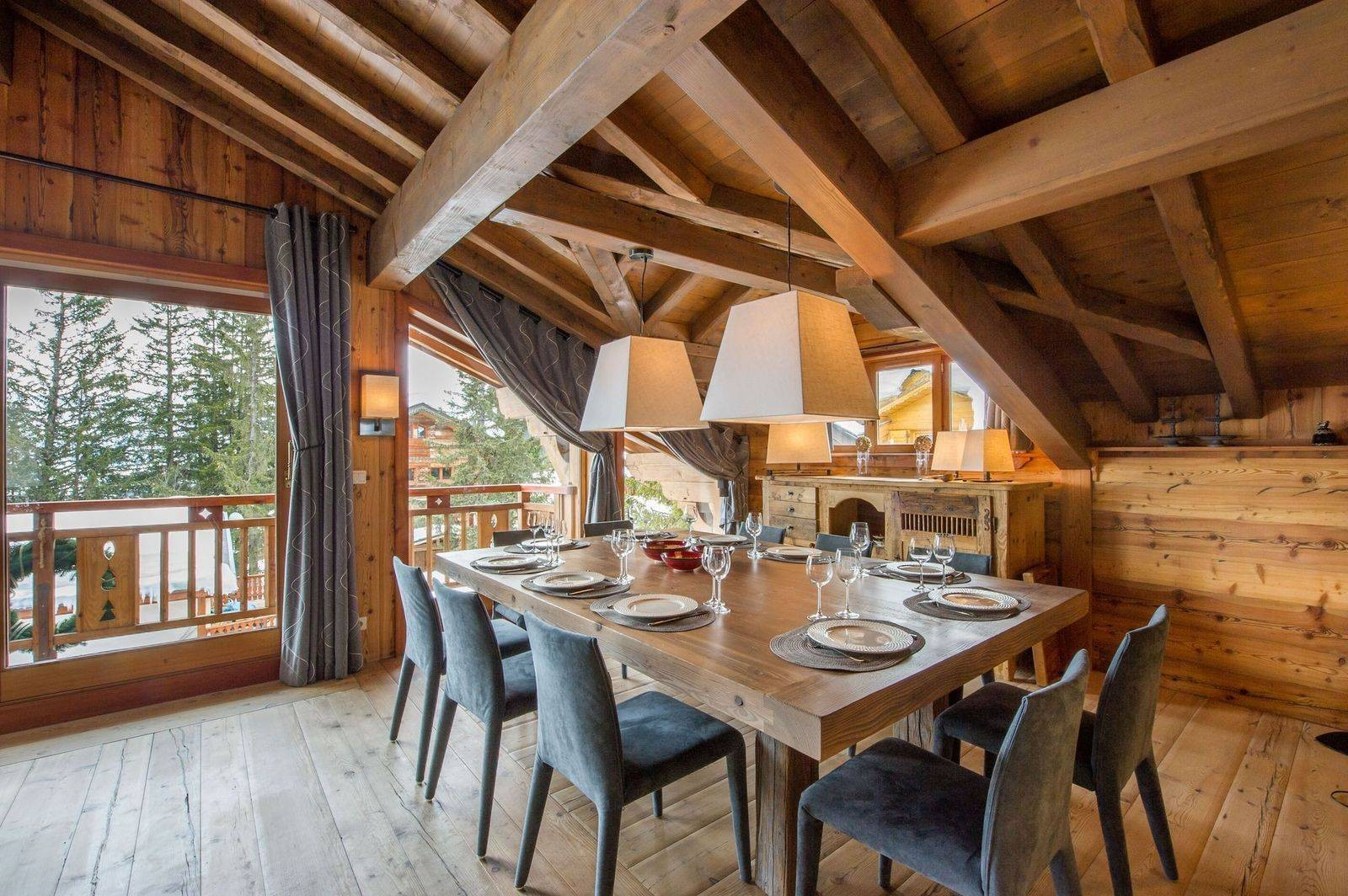 Courchevel 1850 Location Chalet Luxe Tancoite Salle A Manger