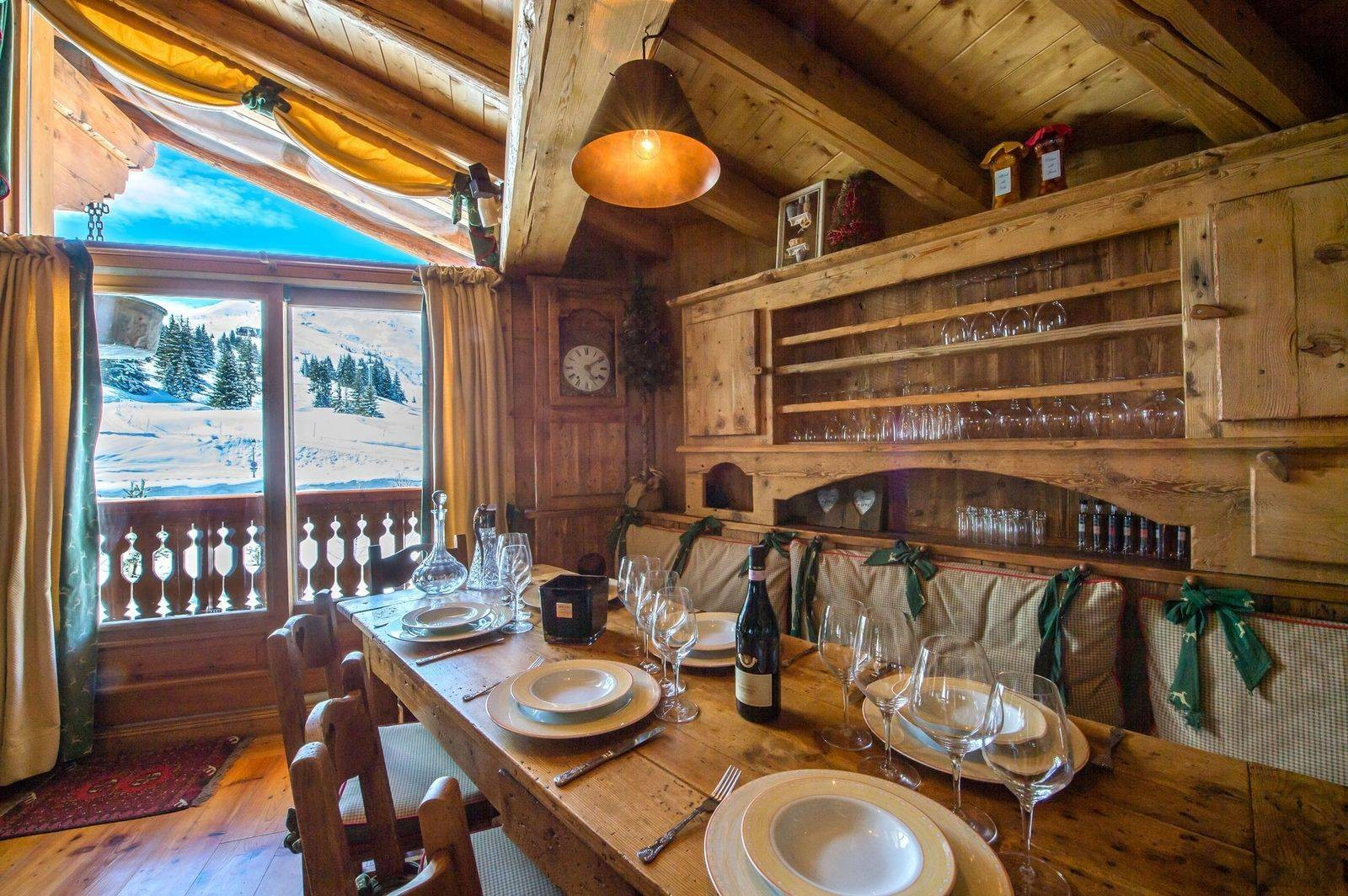 Courchevel 1850 Location Chalet Luxe Tantalite  Salle A Manger