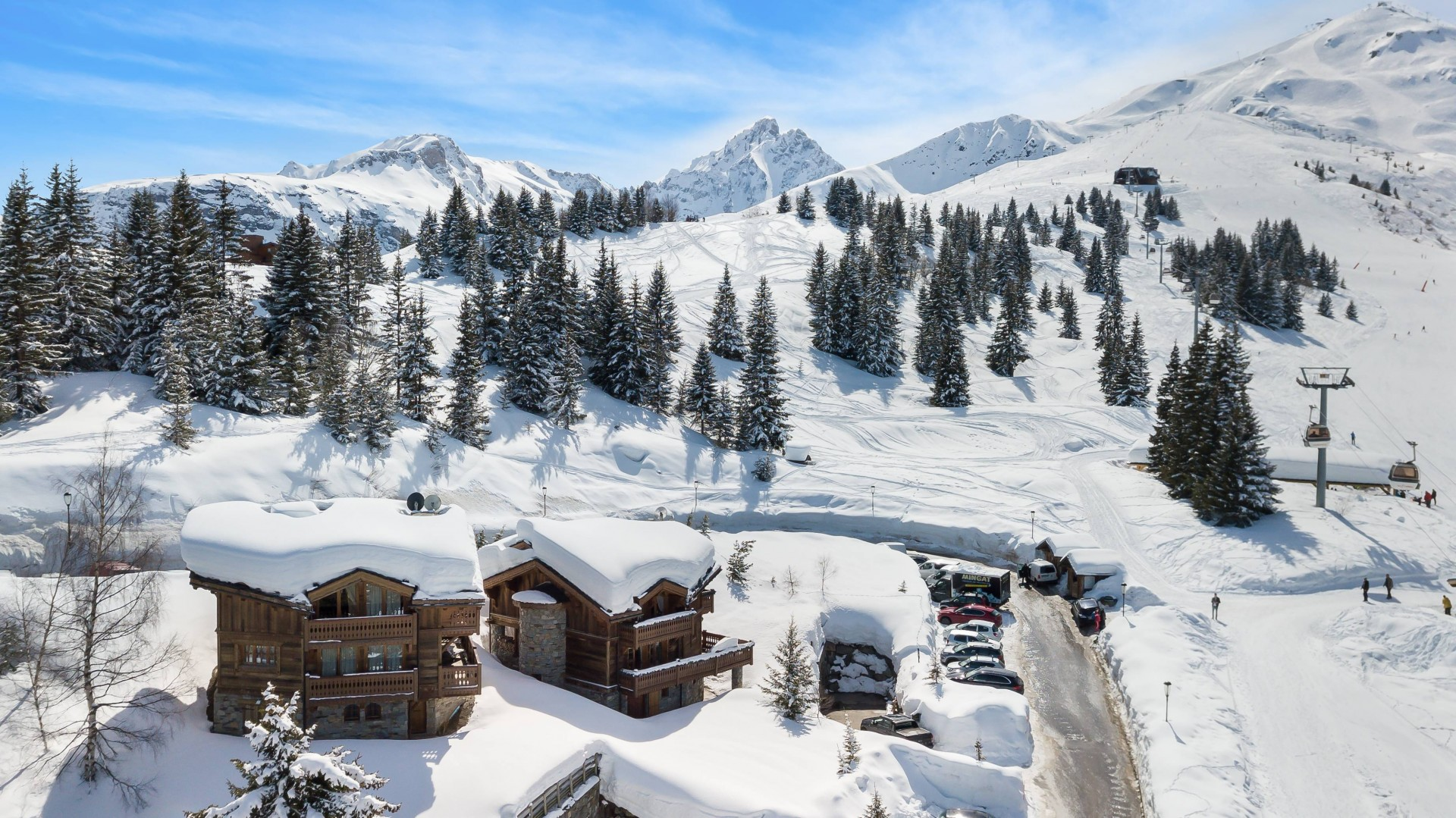Courchevel 1850 Location Chalet Luxe Tantalite  Vue