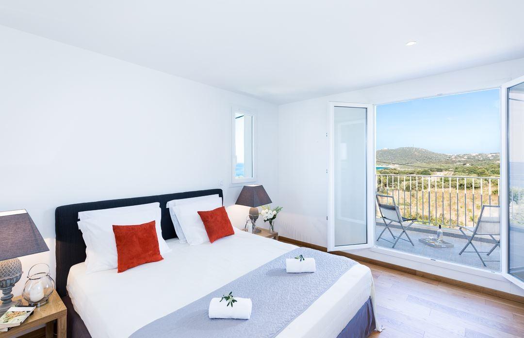 Ile Rousse Location Villa Luxe Artizite Chambre