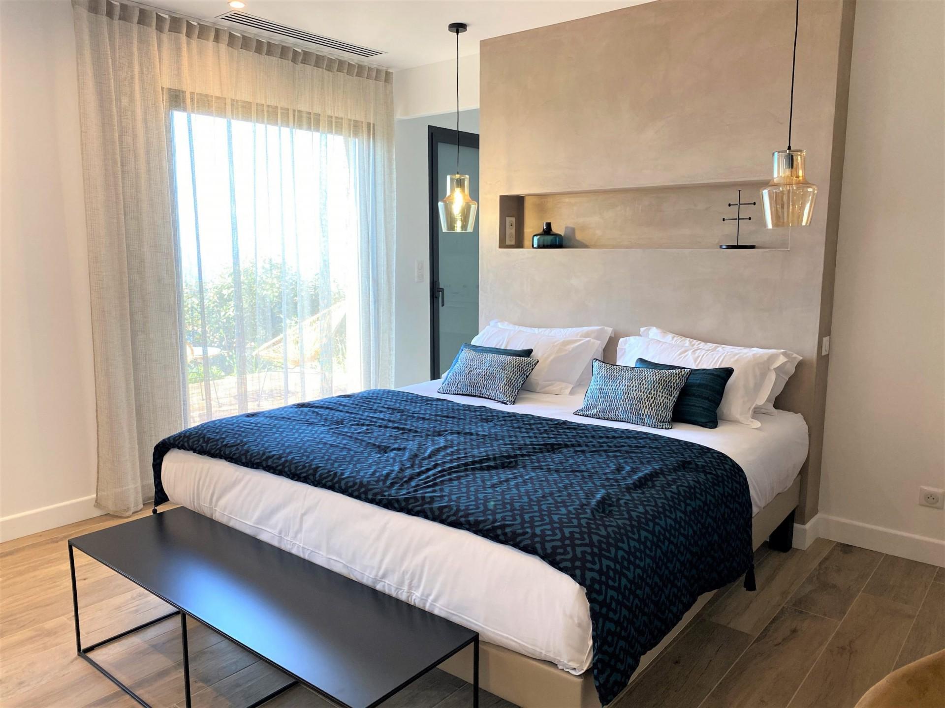 Ile Rousse Luxury Rental Villa Iris Violet Bedroom 6