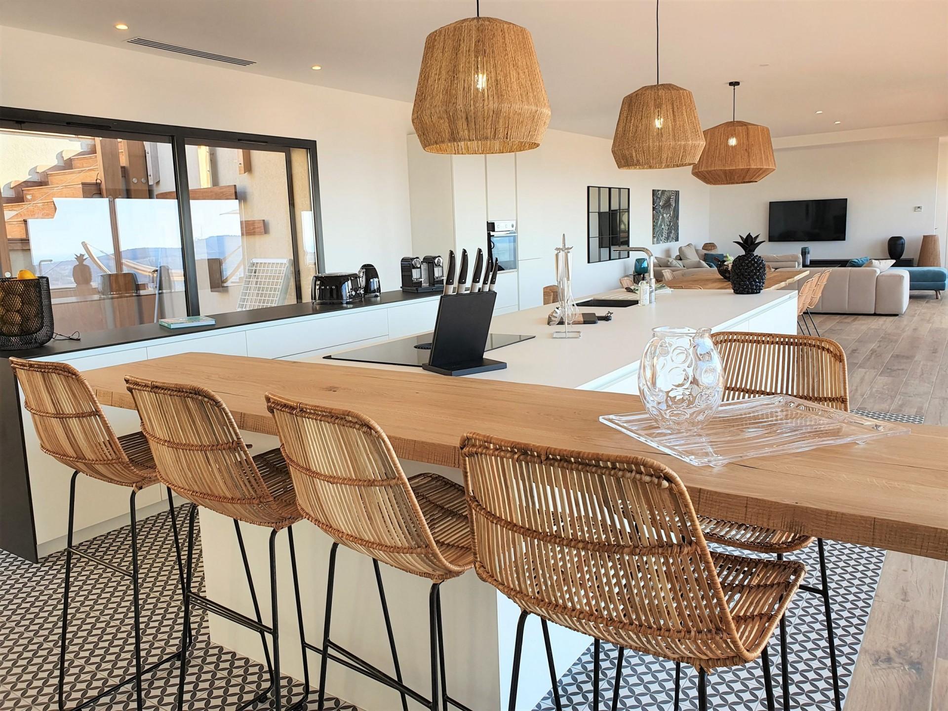 Ile Rousse Luxury Rental Villa Iris Violet Kitchen 2