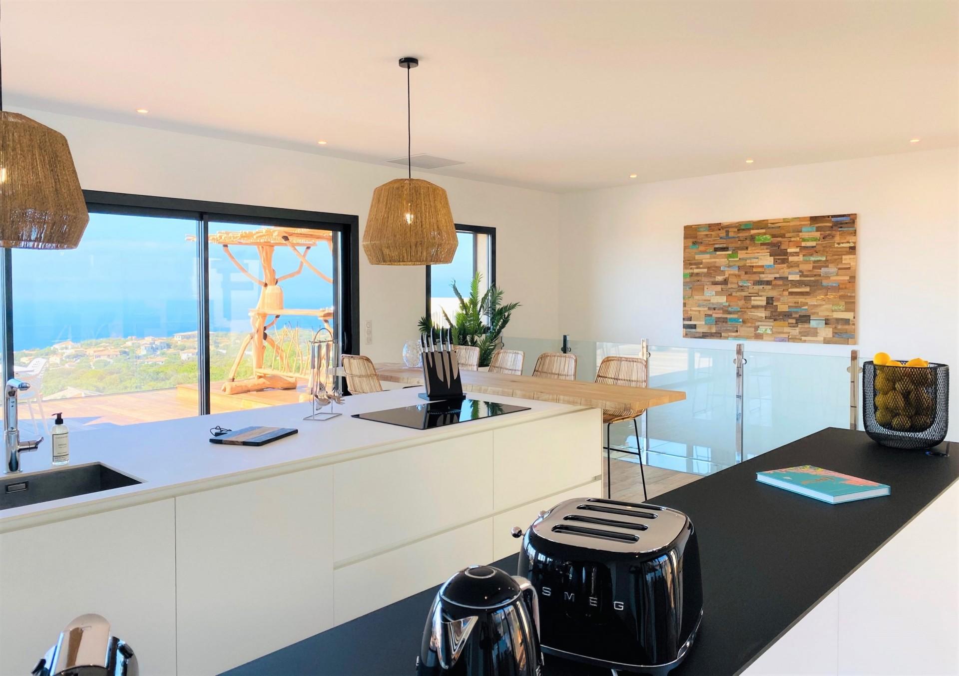Ile Rousse Luxury Rental Villa Iris Violet Kitchen 3