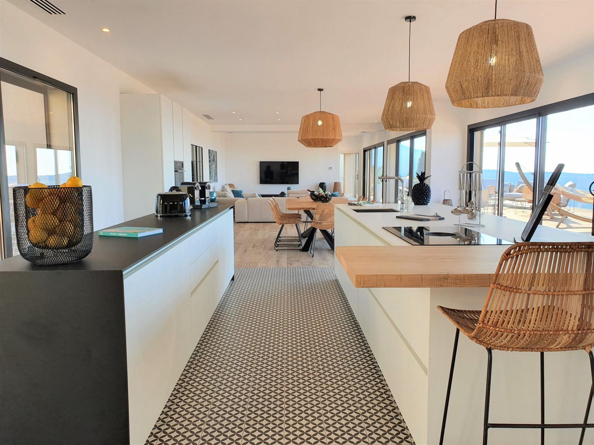 Ile Rousse Luxury Rental Villa Iris Violet Kitchen 4