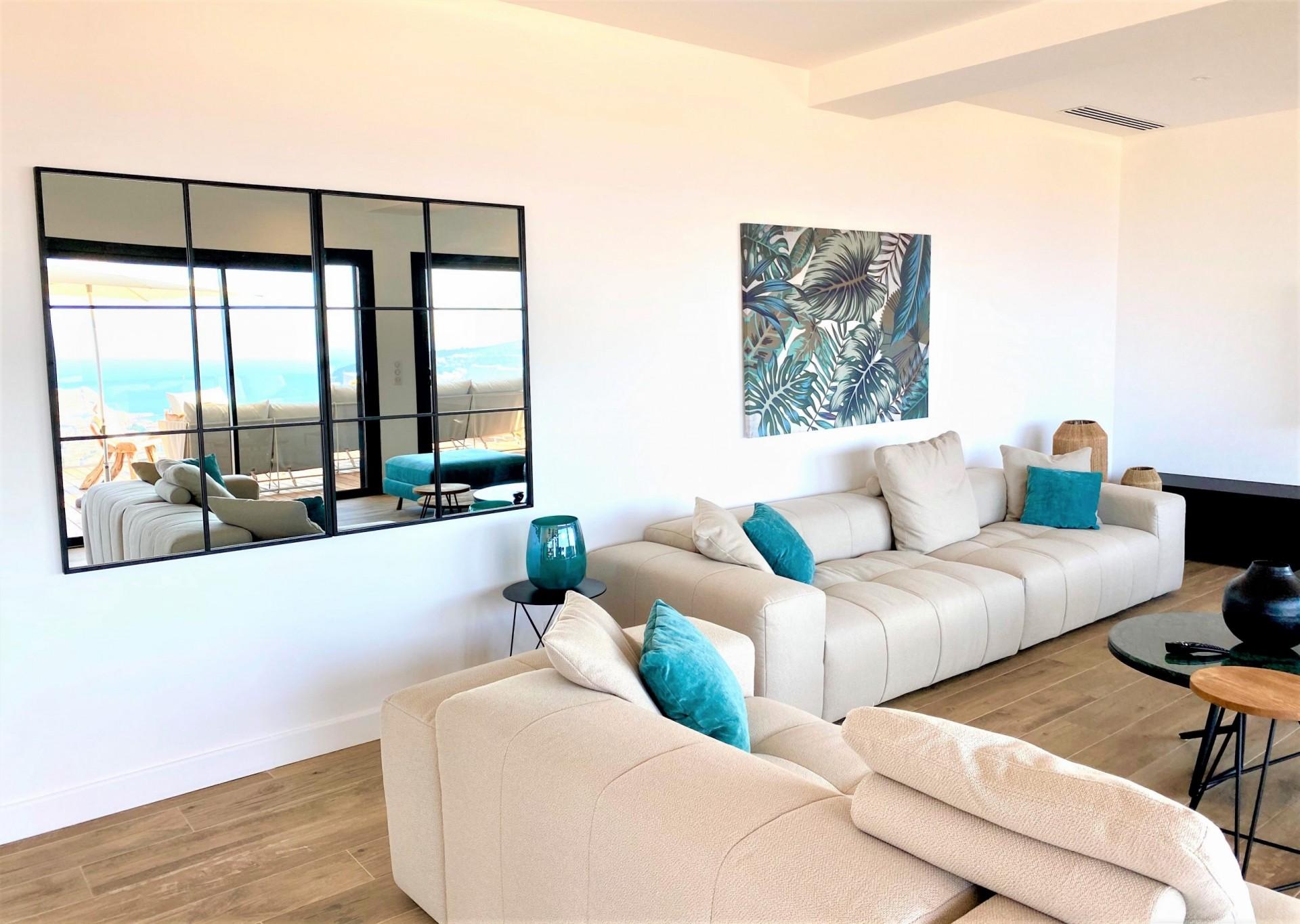 Ile Rousse Luxury Rental Villa Iris Violet Living Room 2