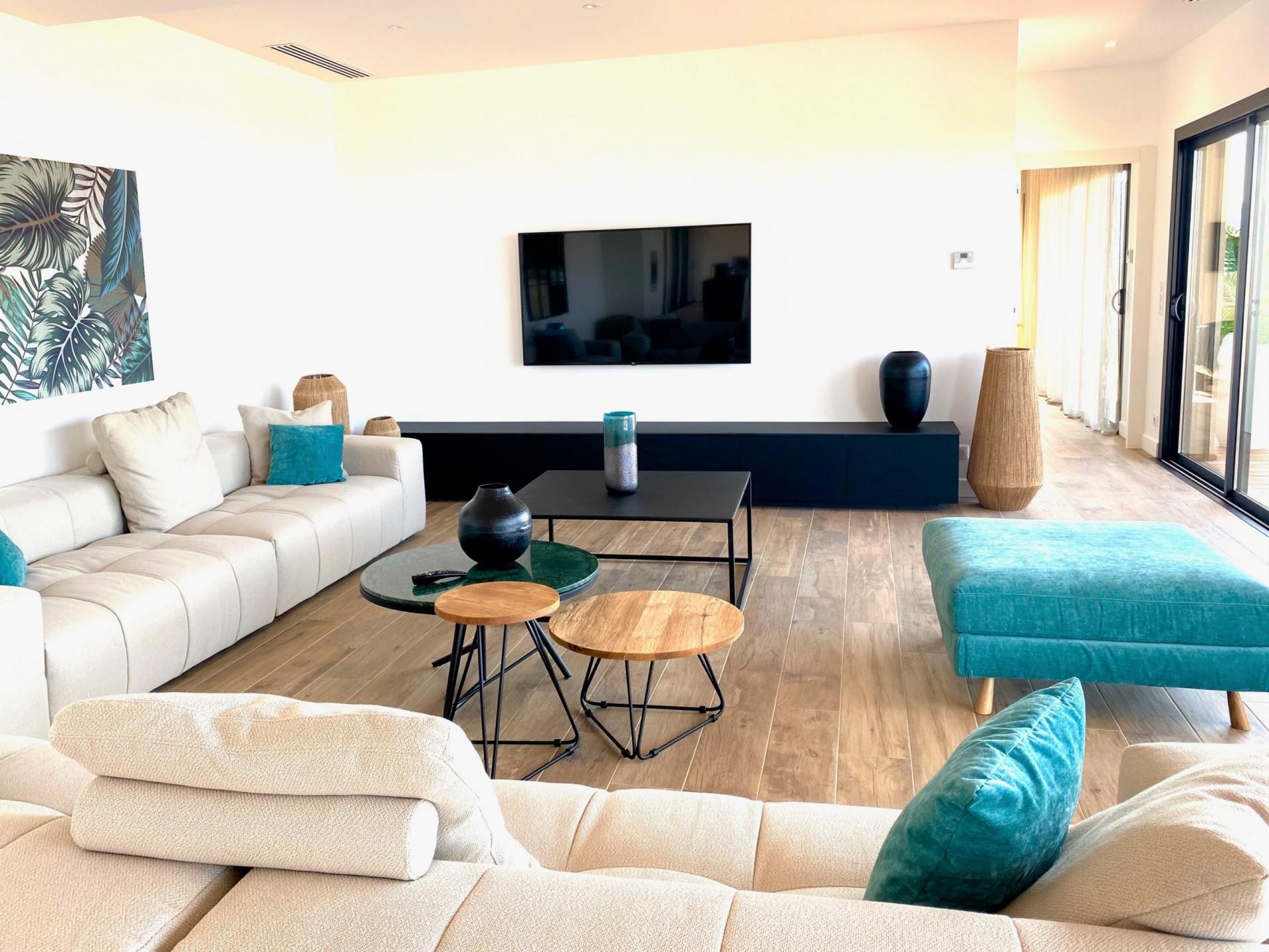 Ile Rousse Luxury Rental Villa Iris Violet Living Room 3