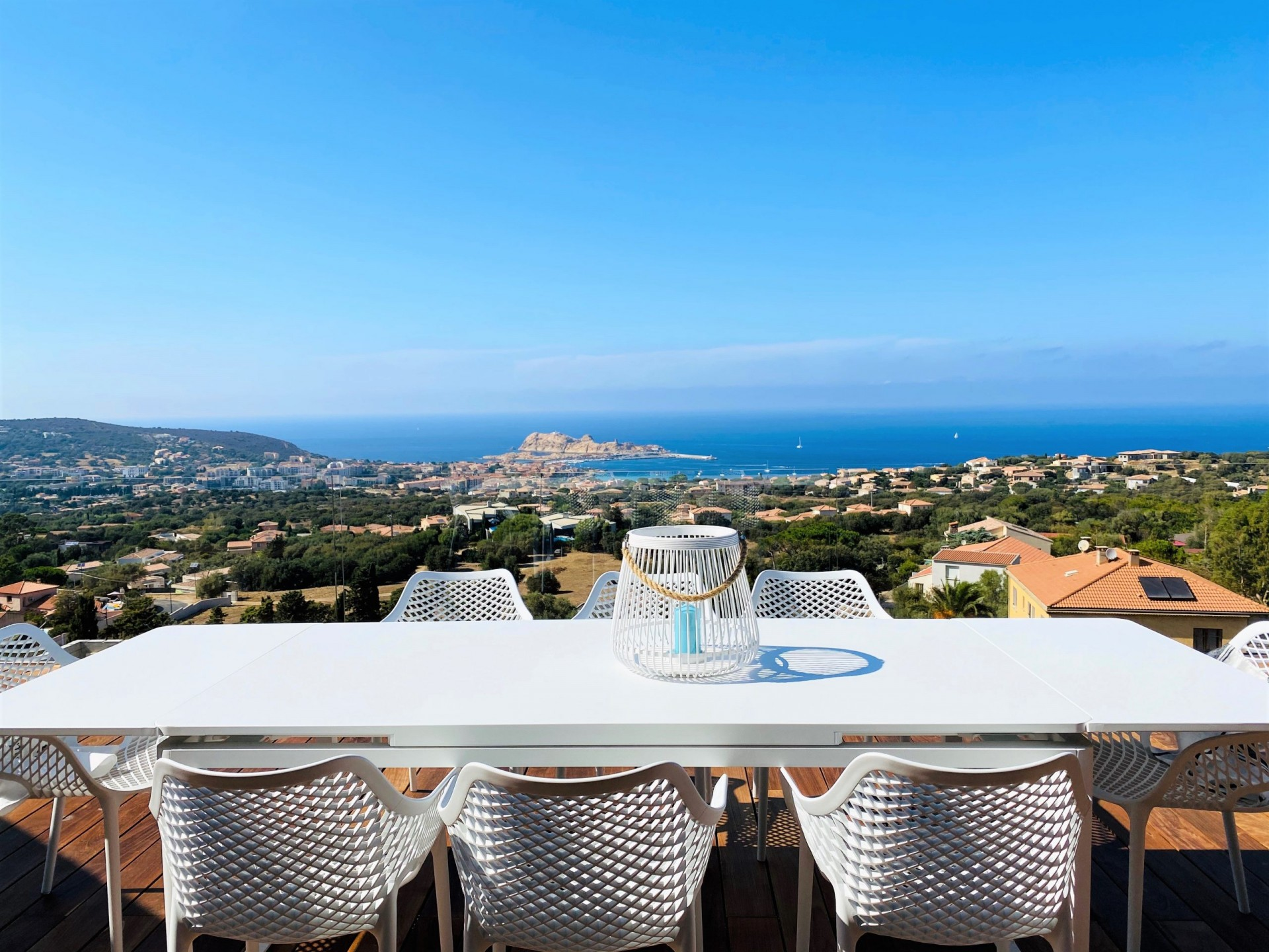 Ile Rousse Luxury Rental Villa Iris Violet Terrace 2