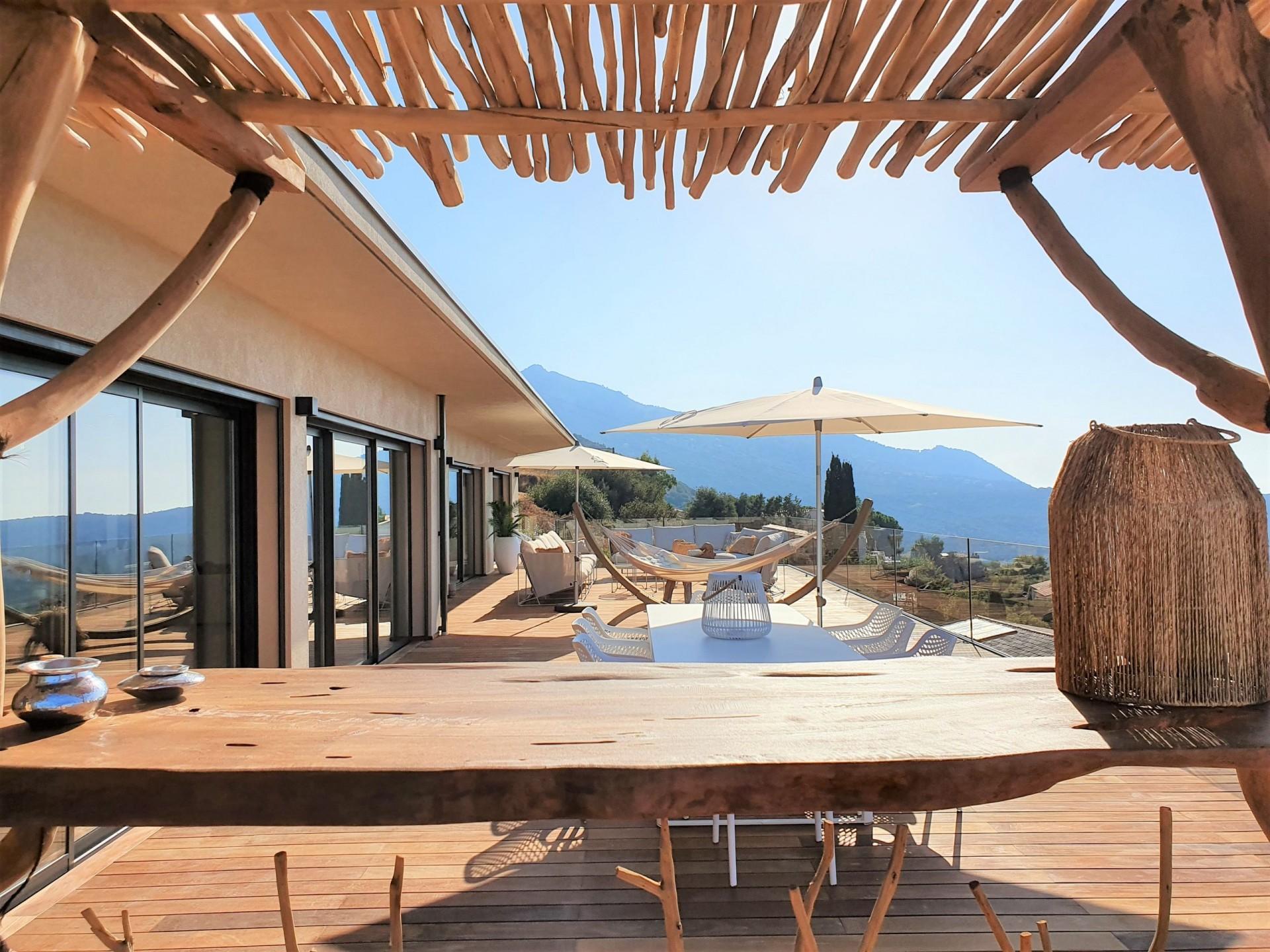 Ile Rousse Luxury Rental Villa Iris Violet Terrace 3