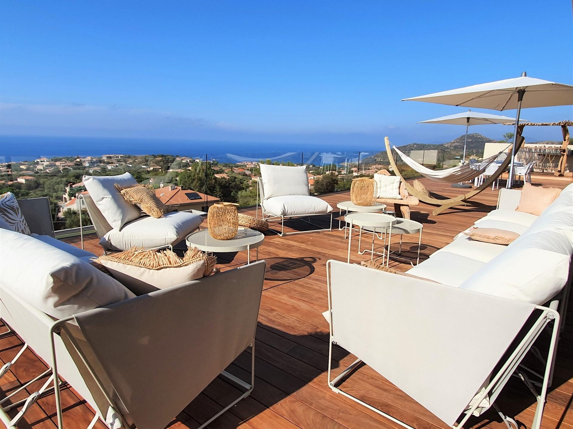 Ile Rousse Luxury Rental Villa Iris Violet Terrace 4