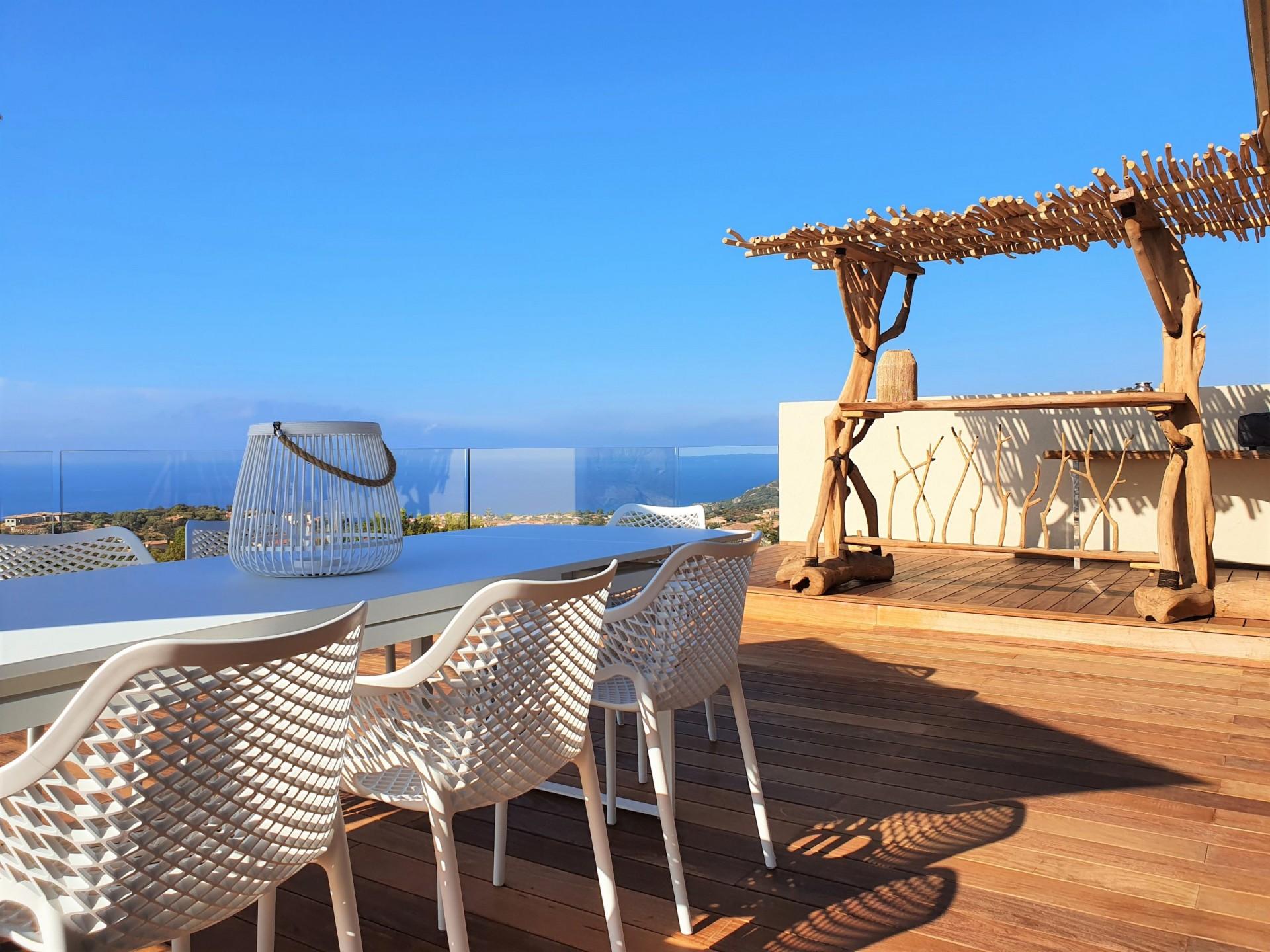 Ile Rousse Luxury Rental Villa Iris Violet Terrace 5
