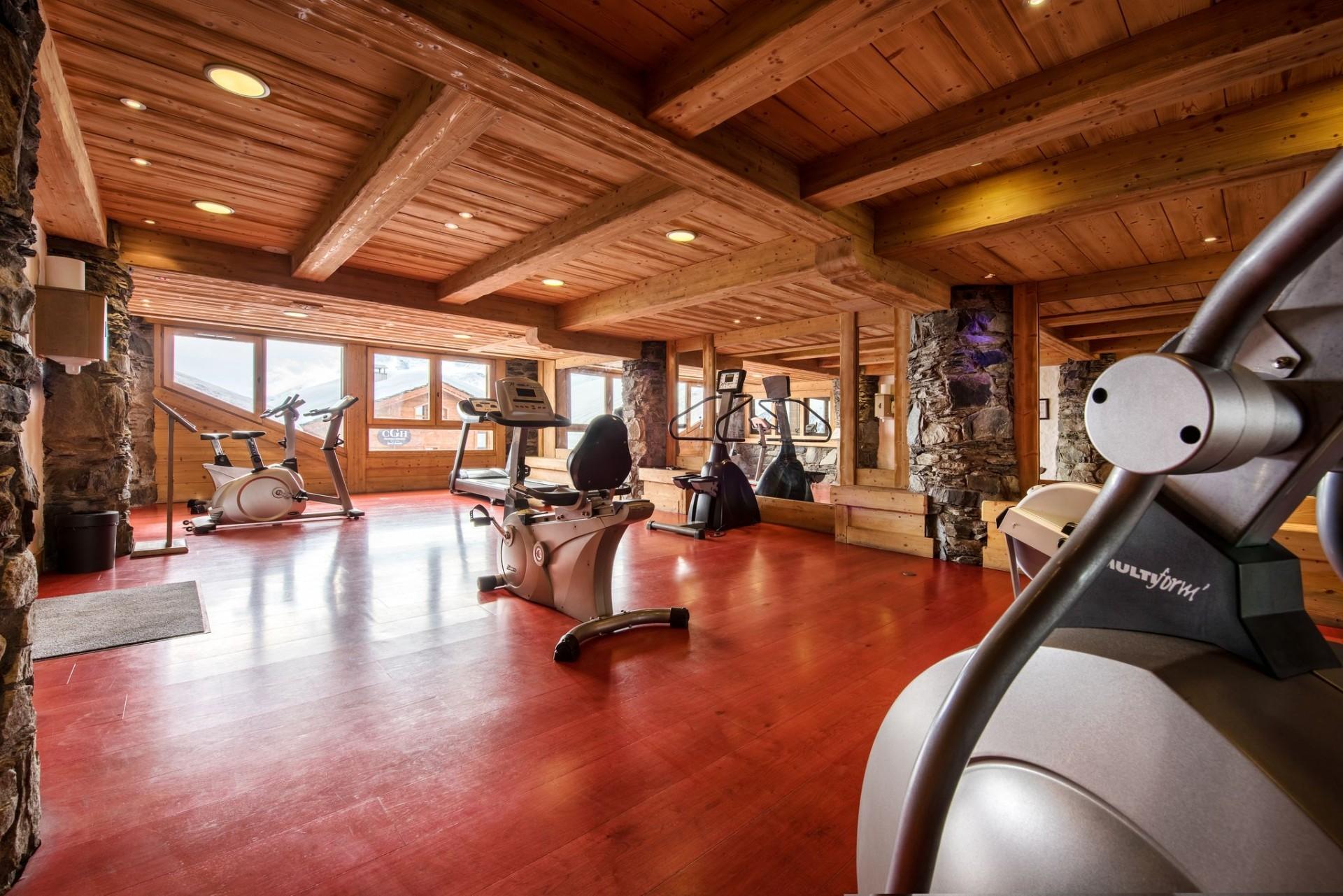 La Rosière Location Appartement Luxe Lux Saphir Duplex Salle De Fitness