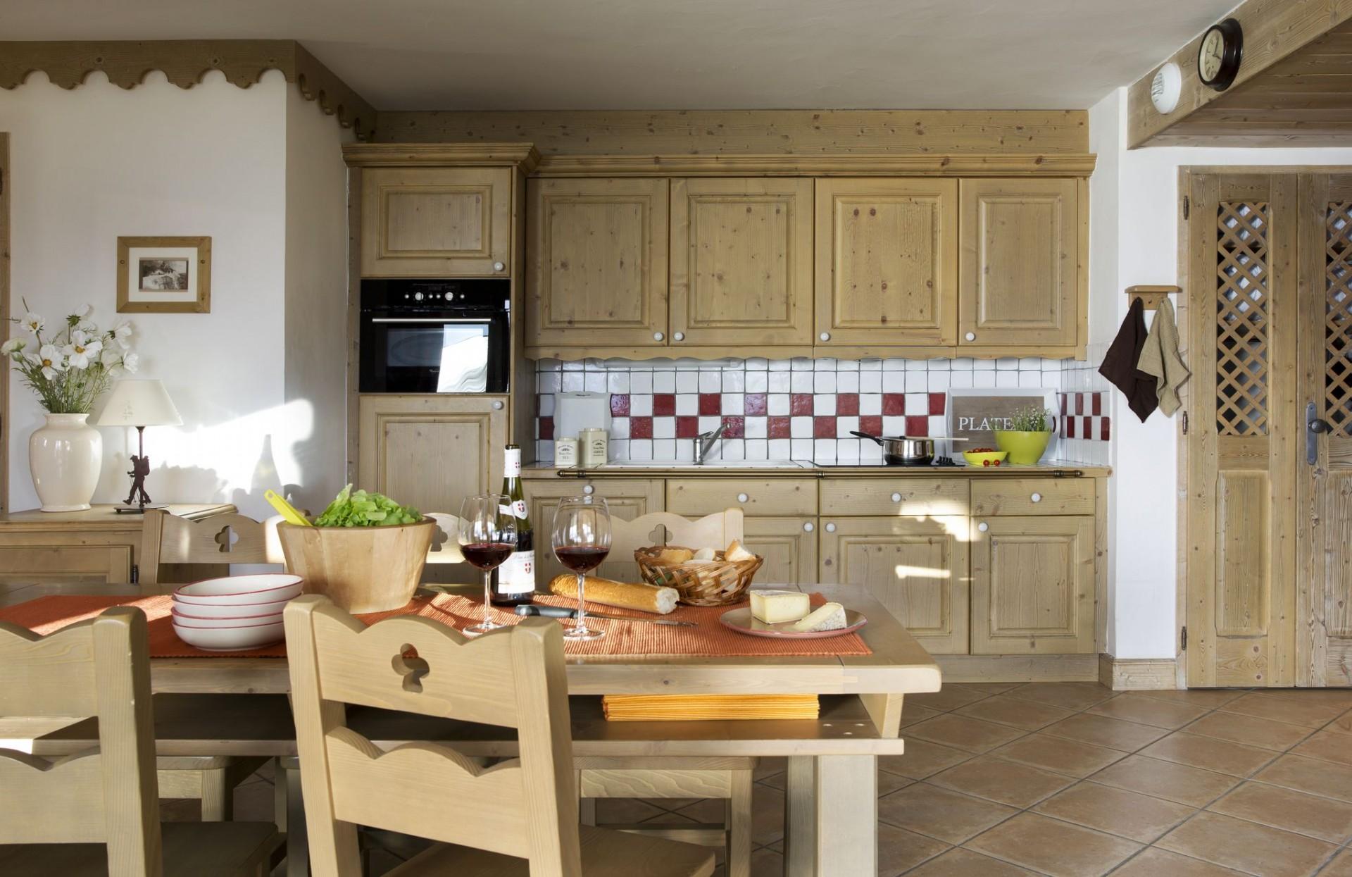 La Rosière Location Appartement Luxe Lyncurion Cuisine