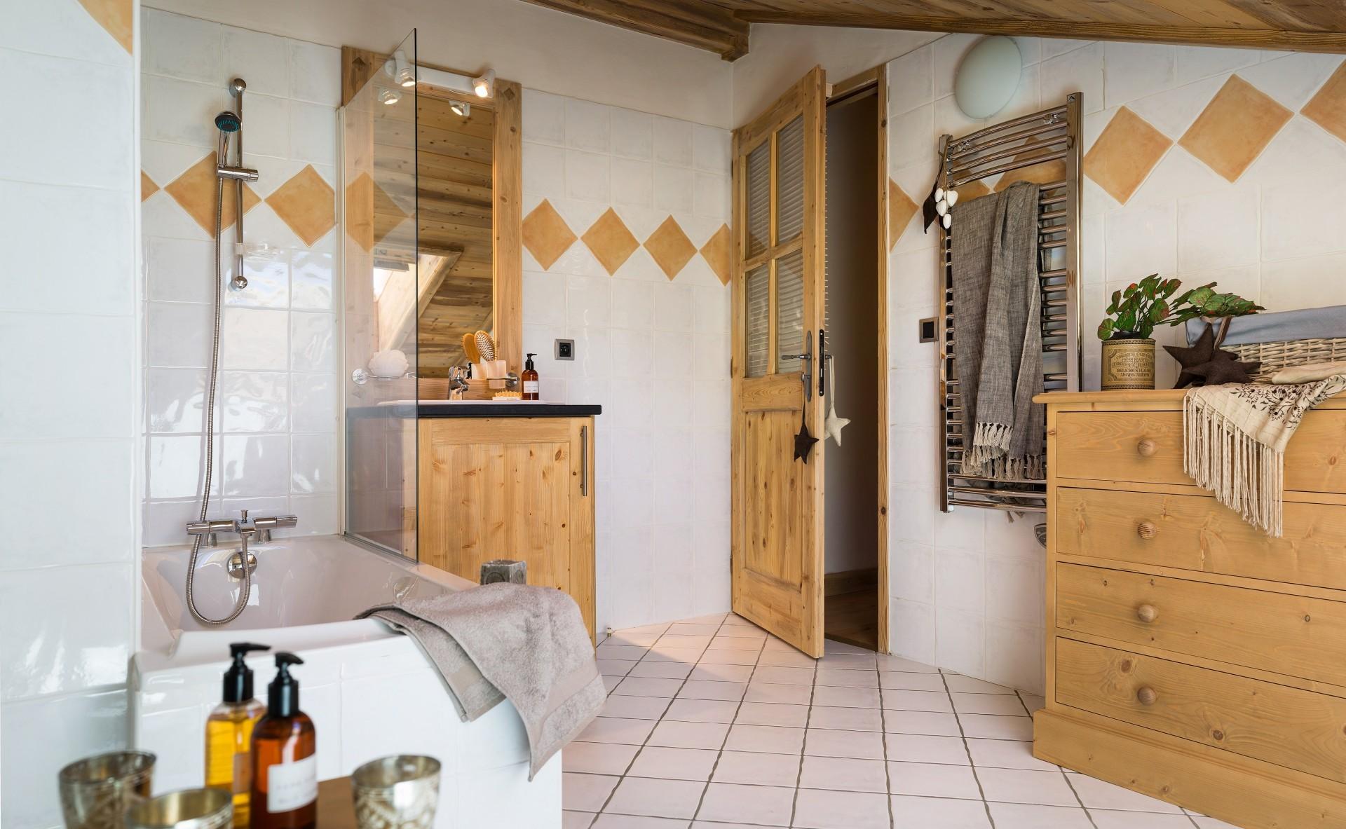 Le Grand Bornand Location Appartement Luxe Lennilite Salle De Bain