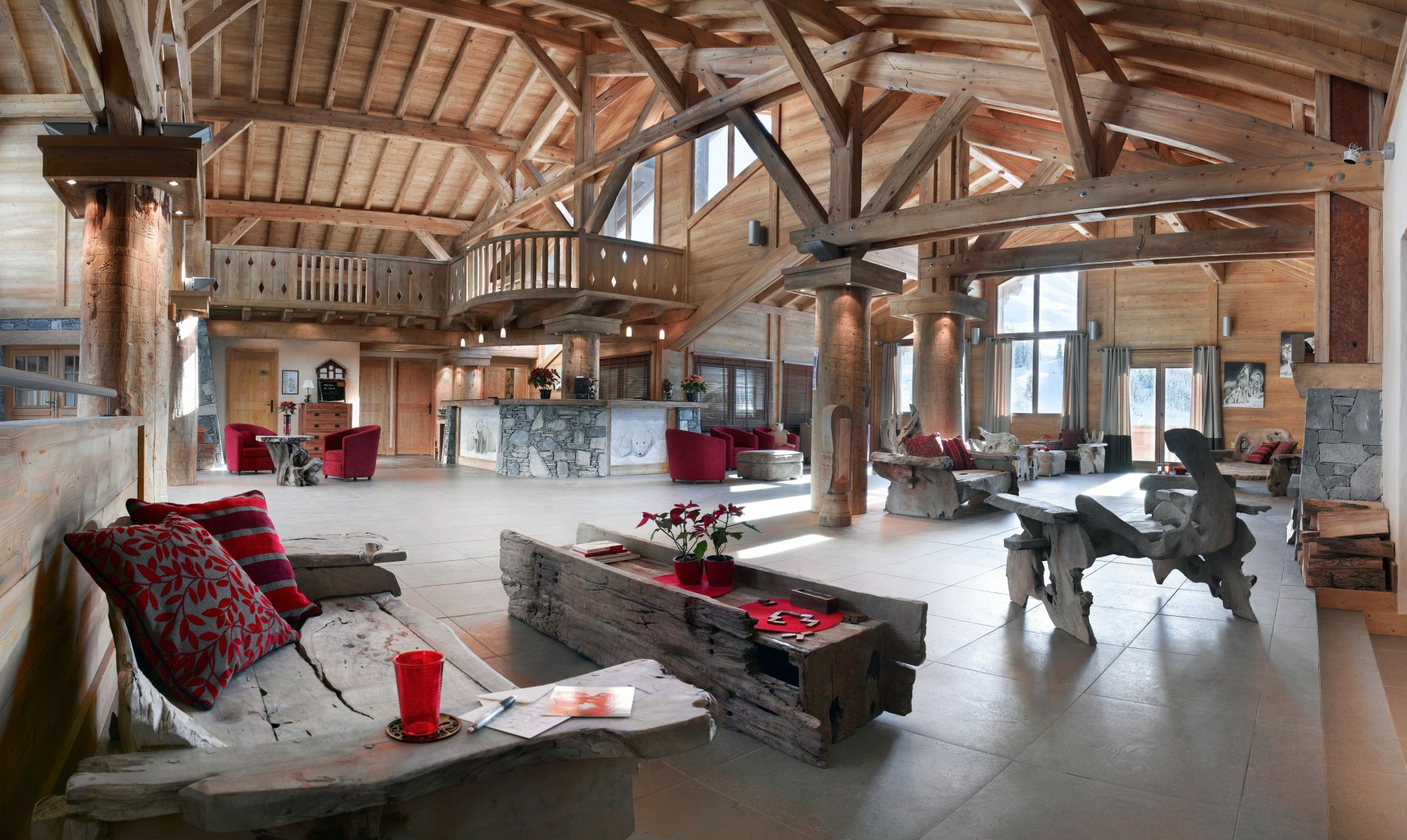 Le Grand Bornand Location Appartement Luxe Leucite Duplex Réception