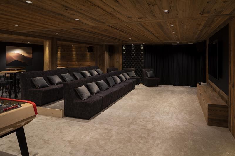 Le Grand Bornand Location Chalet Luxe Leonate Salle De Cinéma