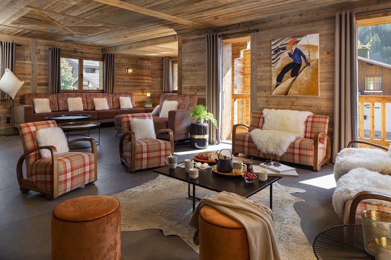 Le Grand Bornand Location Chalet Luxe Leonate Salon
