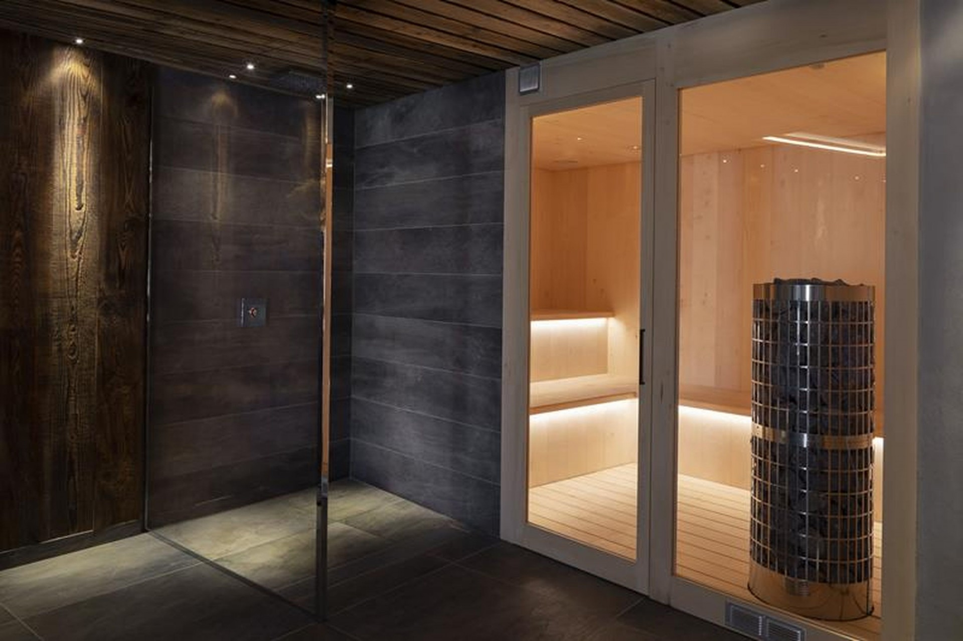 Le Grand Bornand Location Chalet Luxe Leonate Sauna