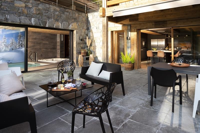 Le Grand Bornand Location Chalet Luxe Leonate Terrasse