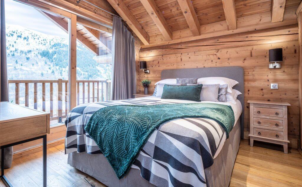 Les Allues Location Chalet Luxe Madocite Chambre