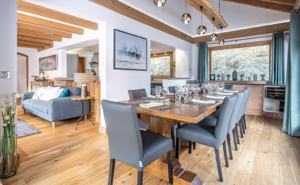 Les Allues Location Chalet Luxe Madocite Salle A Manger