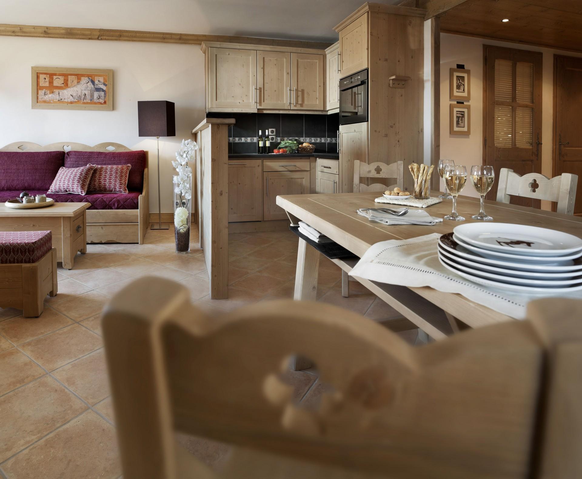 Les Carroz D'Araches Location Appartement Luxe Lilalite Cuisine