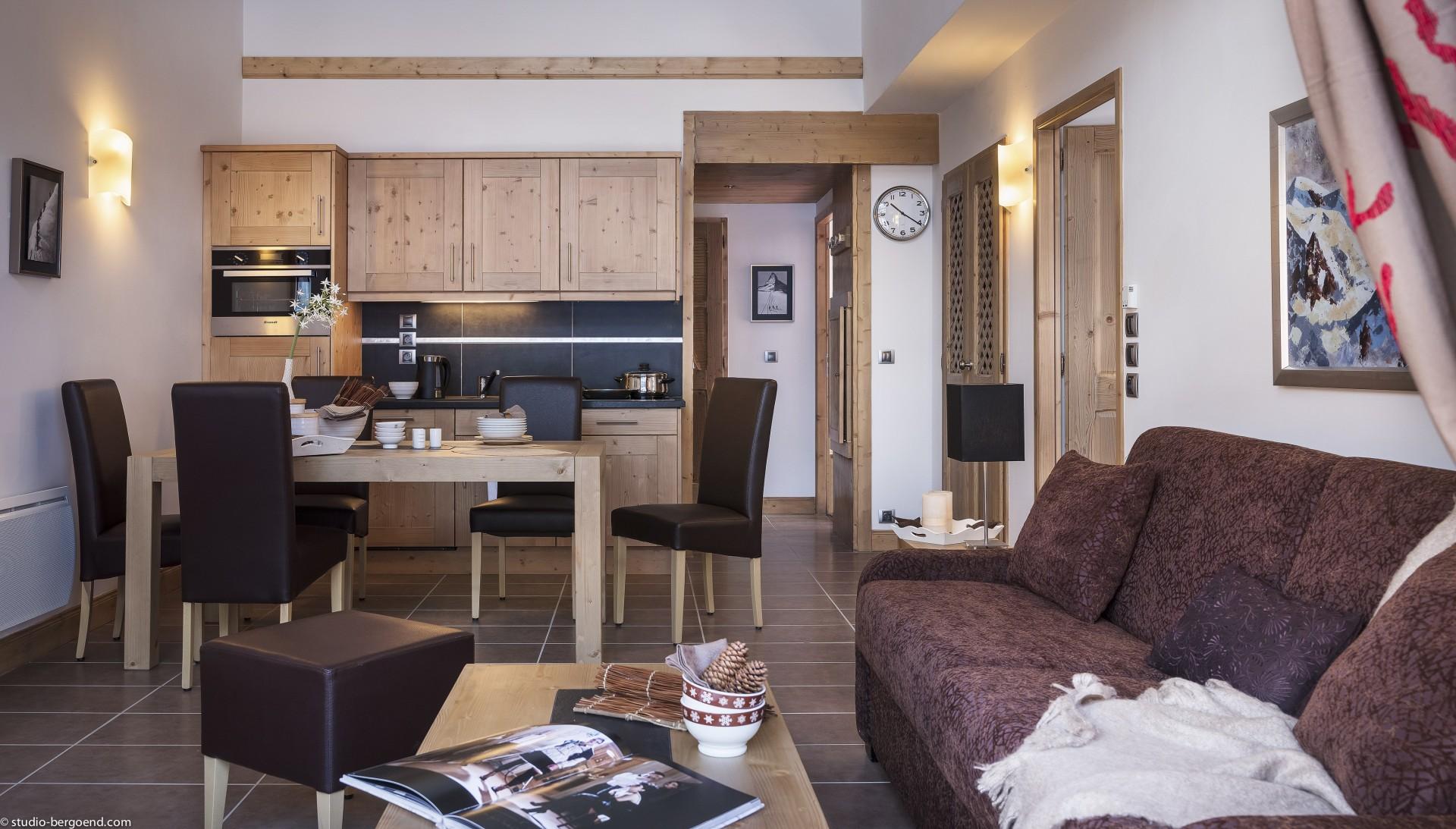 Les Carroz d'Arâches Location Appartement  Luxe Lino Séjour