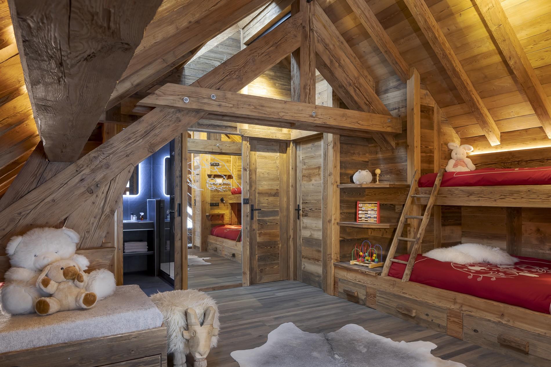 Les Deux Alpes Location Chalet Luxe Cervantute Chambre Enfant