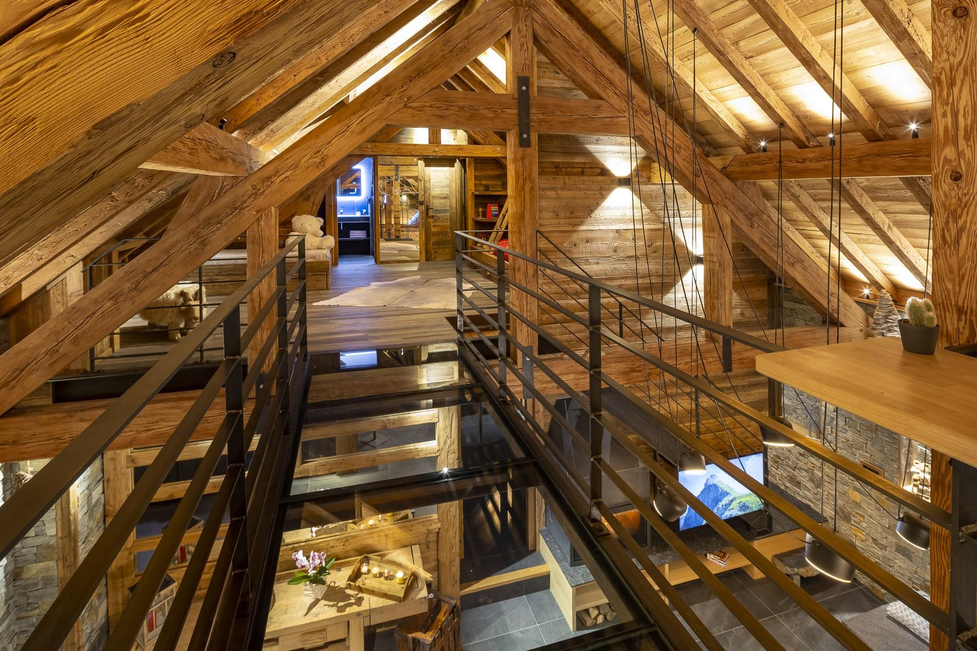 Les Deux Alpes Location Chalet Luxe Cervantute Mezzanine
