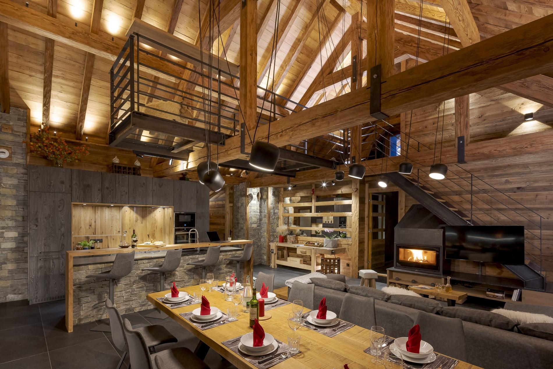 Les Deux Alpes Location Chalet Luxe Cervantute Salle A Manger