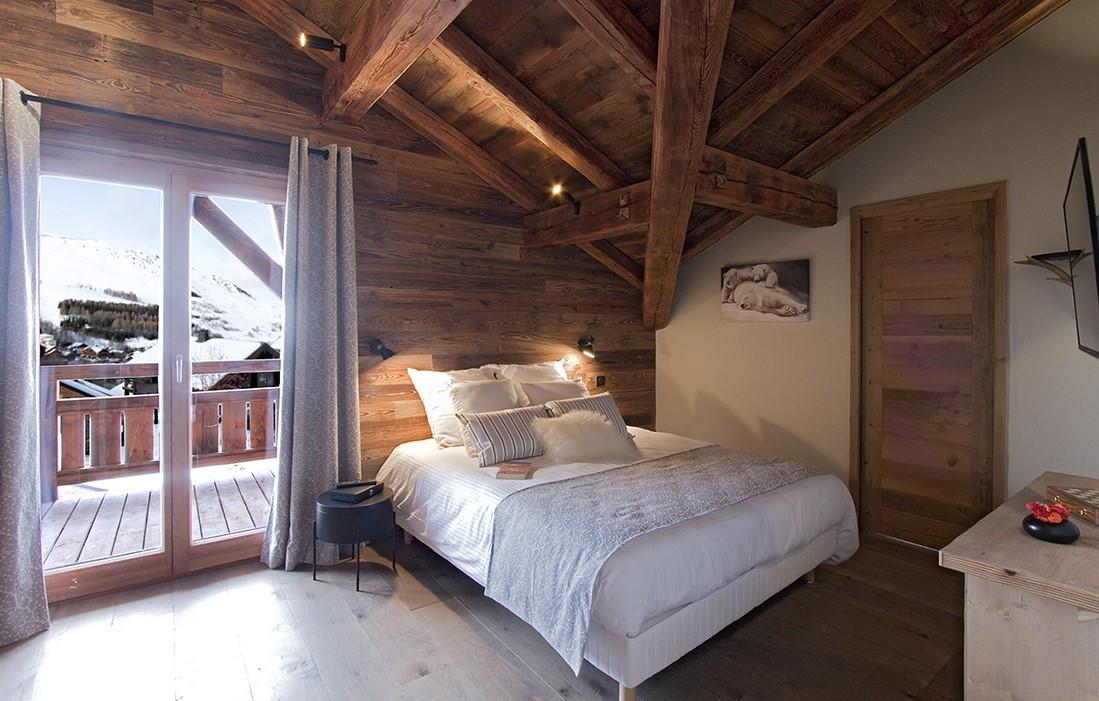 Les Deux Alpes Location Chalet Luxe Wallomia Chambre 1