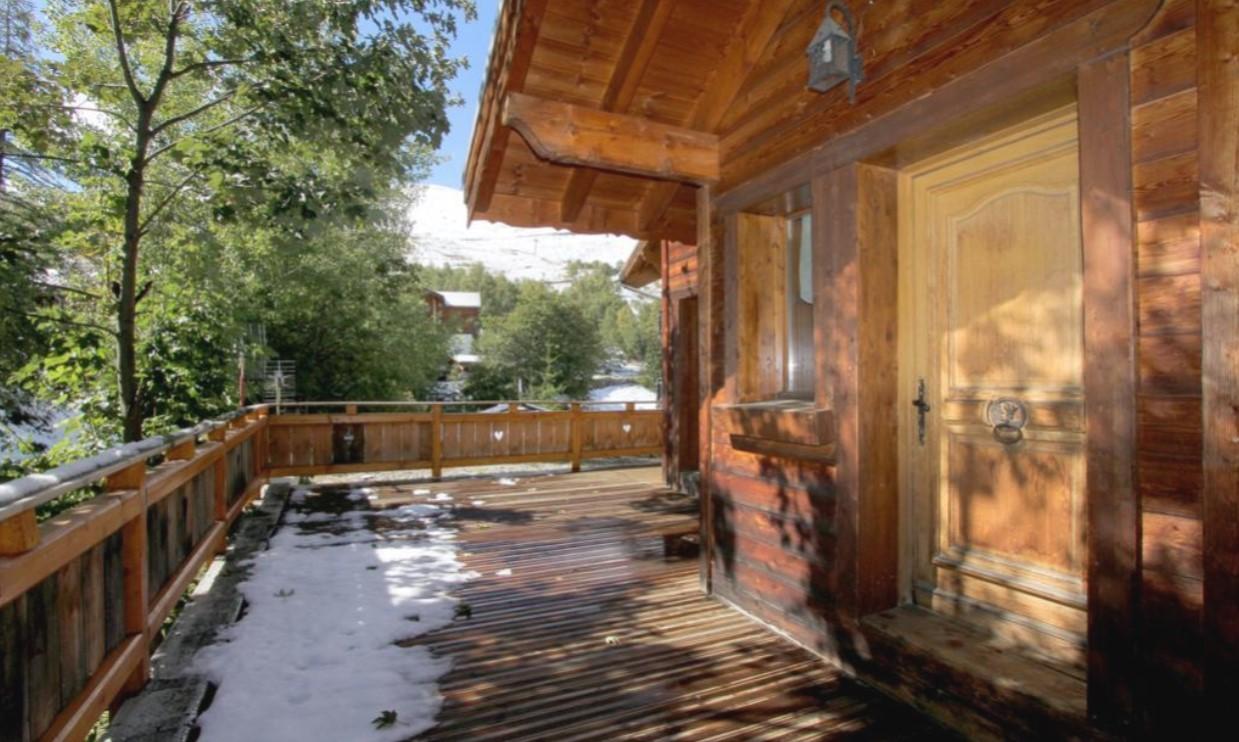 Les Deux Alpes Location Chalet Luxe Wax Opal Terrasse 2