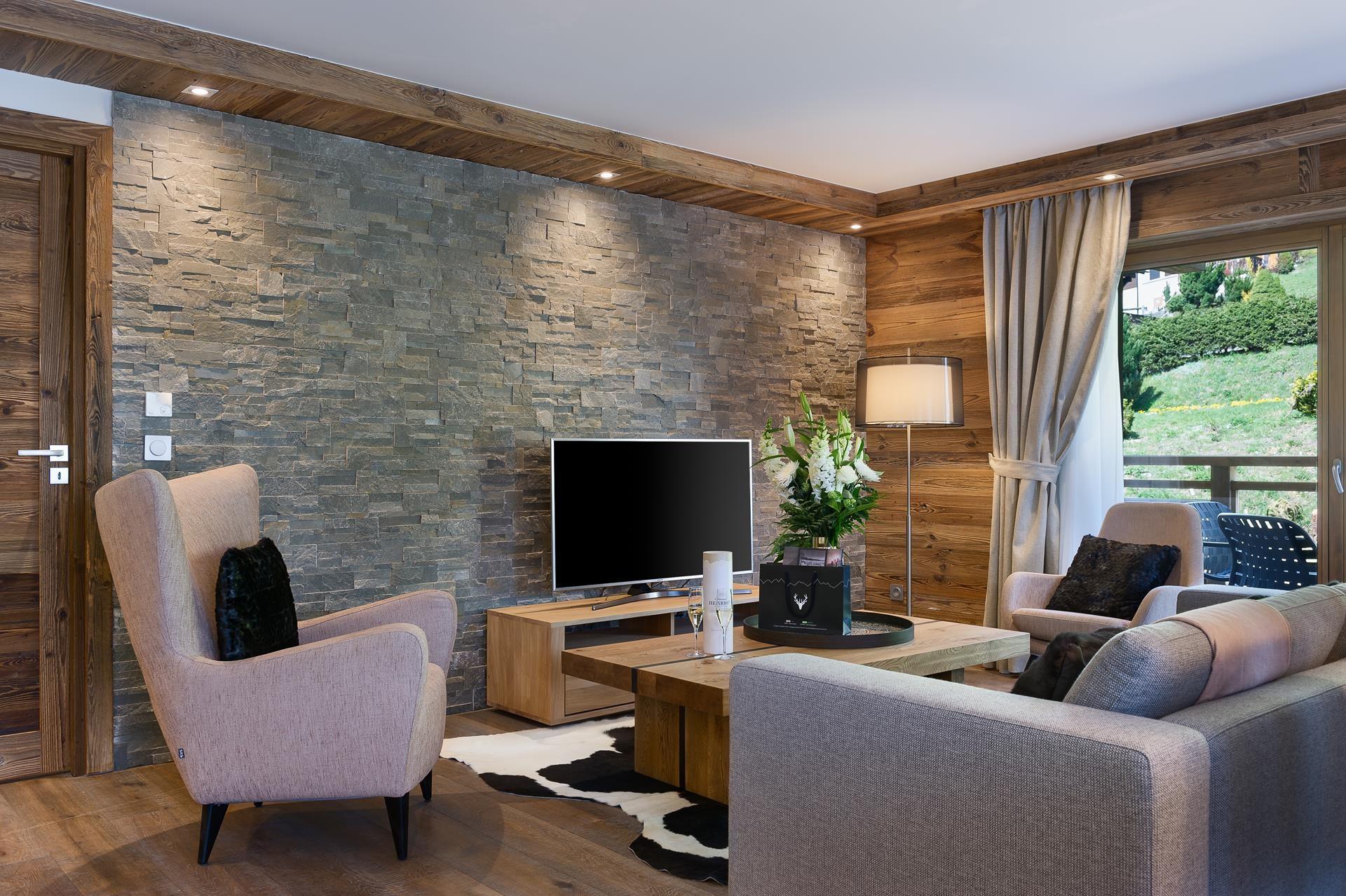 Les Gets Location Appartement Luxe Andime Séjour 2