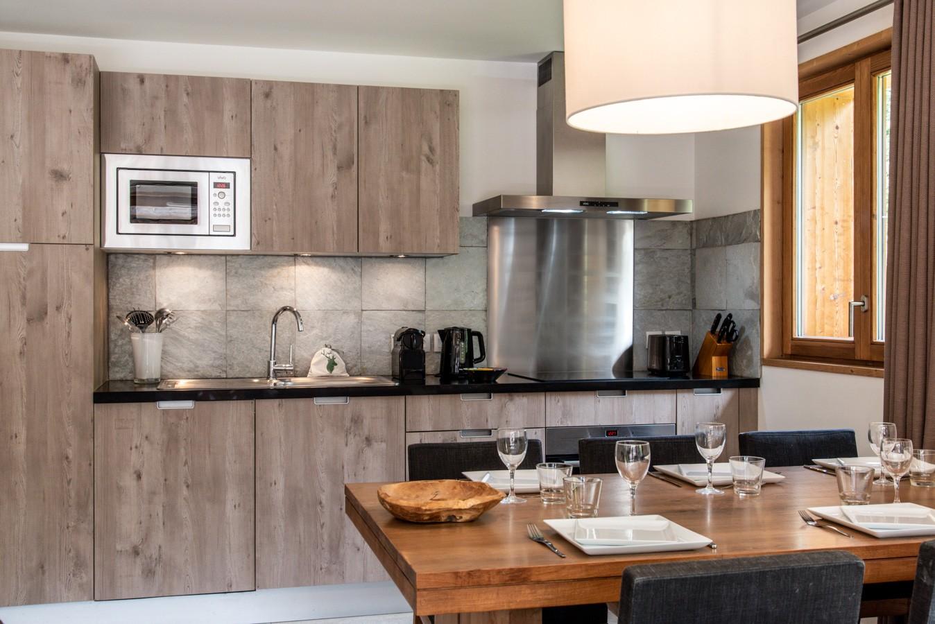 Les Gets Location Appartement Luxe Anrella Cuisine