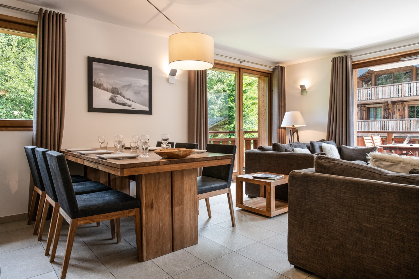 Les Gets Location Appartement Luxe Anrella Salle A Manger