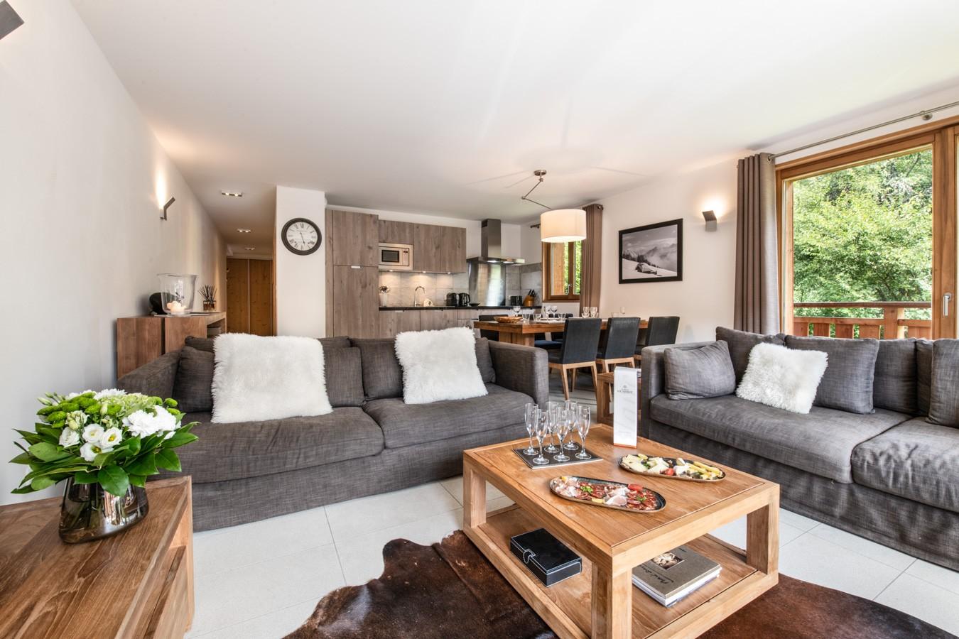 Les Gets Location Appartement Luxe Anrella Séjour