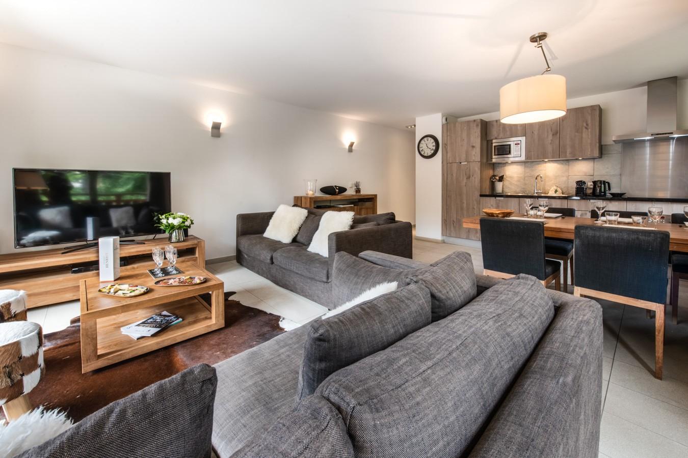 Les Gets Location Appartement Luxe Anrella Séjour 3