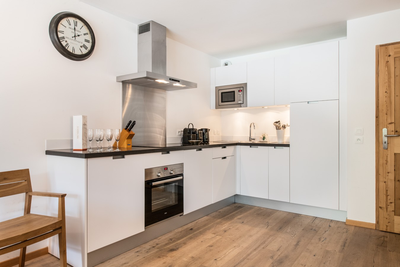Les Gets Luxury Rental Appartment Anrelle Kitchen