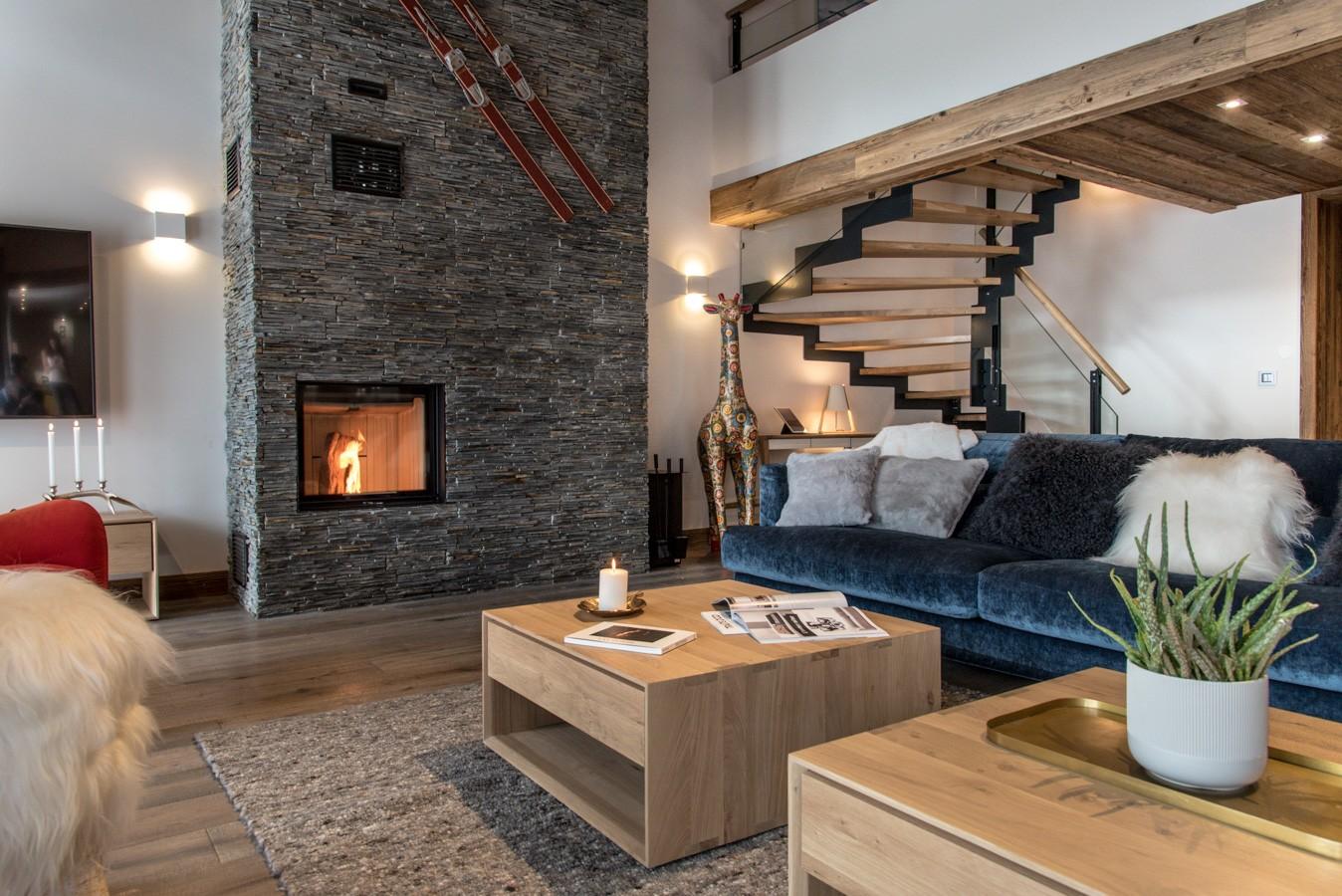 Les Gets Location Appartement Luxe Anrocha Séjour 3