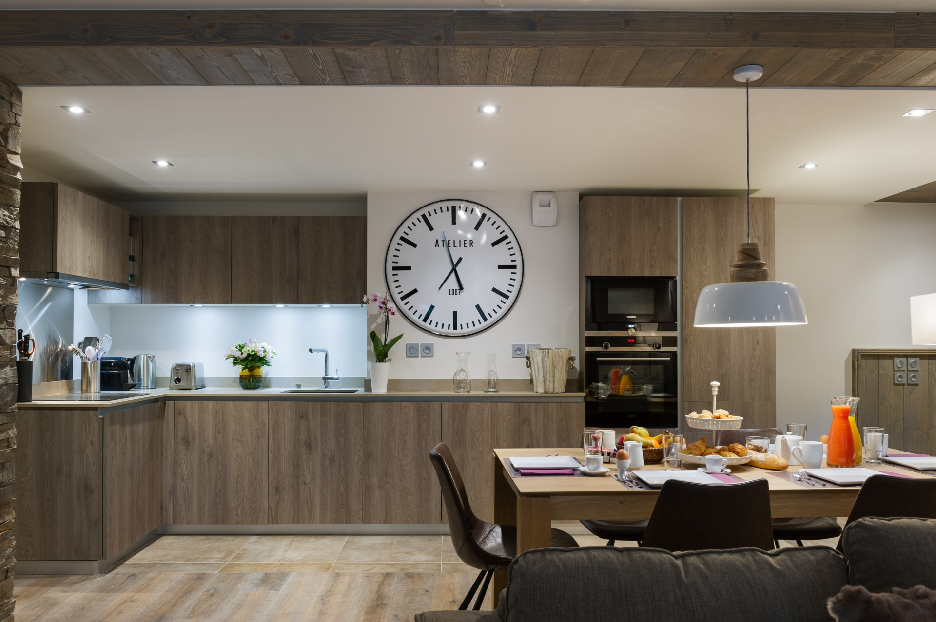 Les Gets Location Appartement Luxe Anroche Cuisine