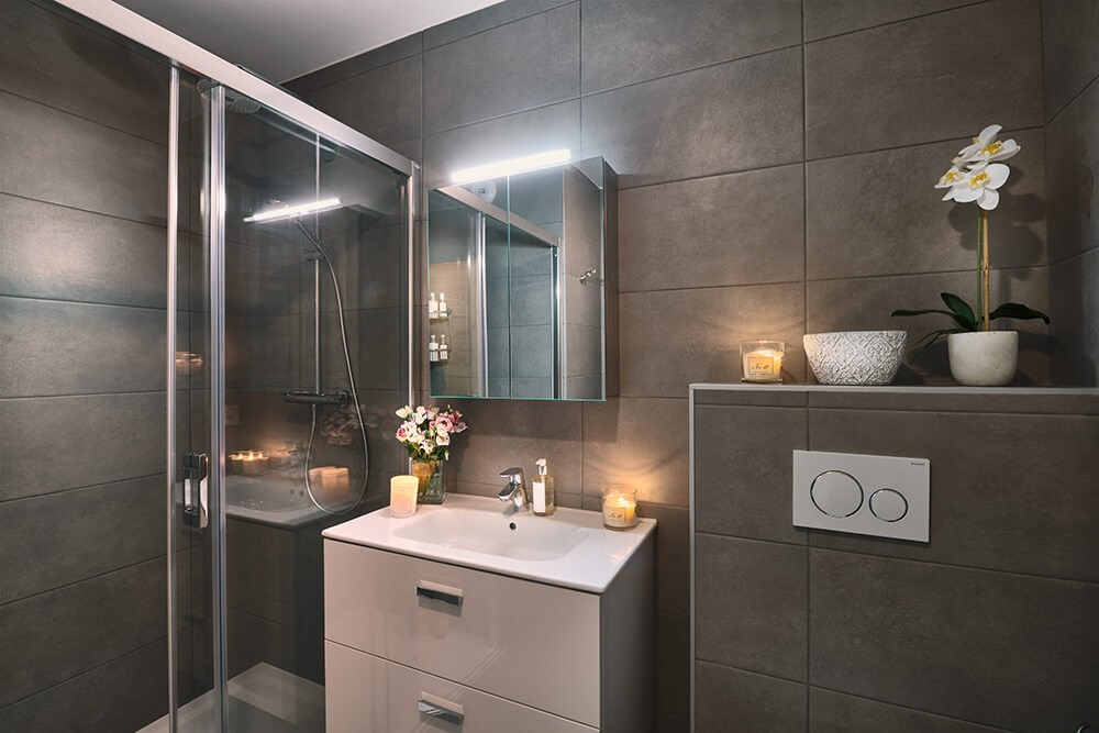 Les Gets Luxury Rental Appartment Dariana Shower