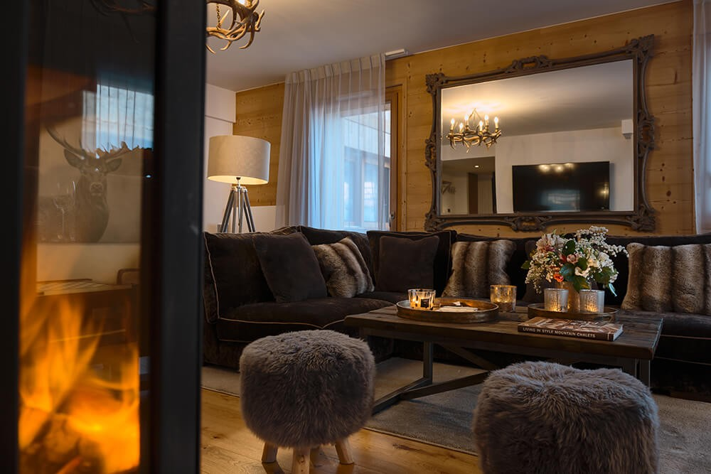 Les Gets Luxury Rental Appartment Dariana Living Room 2